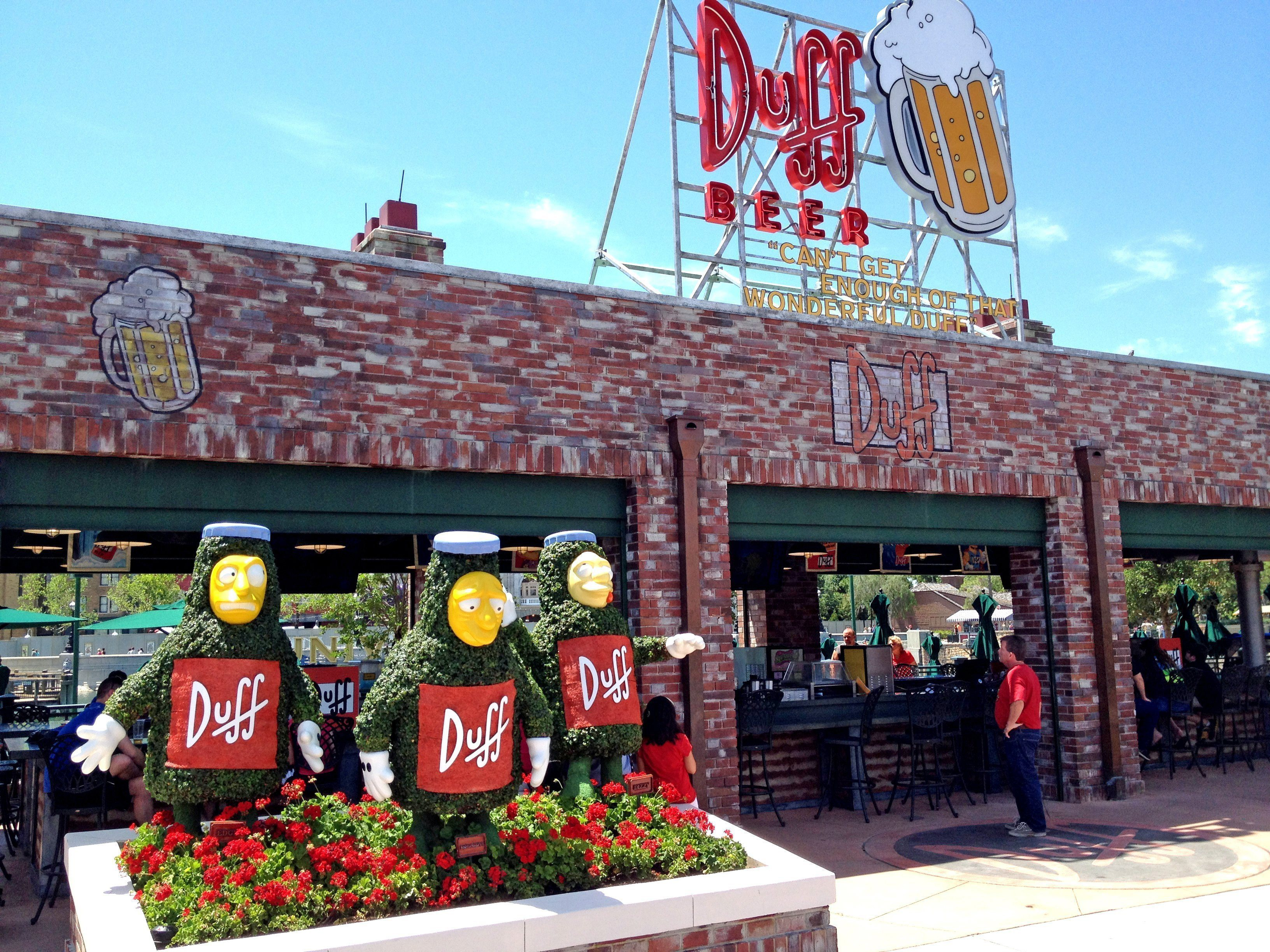 Homer's favorite Beer, Duff, is available at the 'brewery' in the Springfield area of Universal Studios in Orlando, Fla.