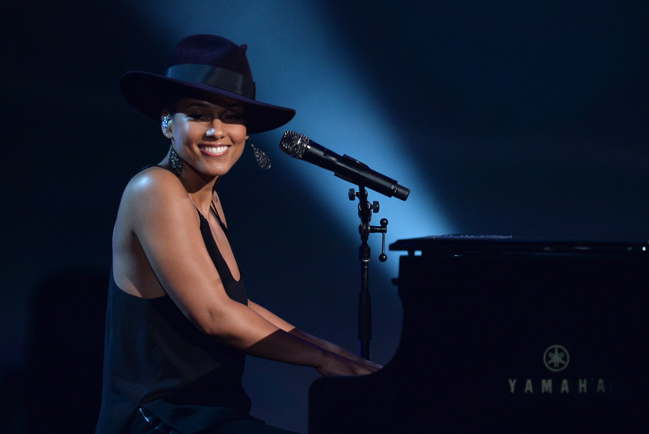 Recording artist Alicia Keys.