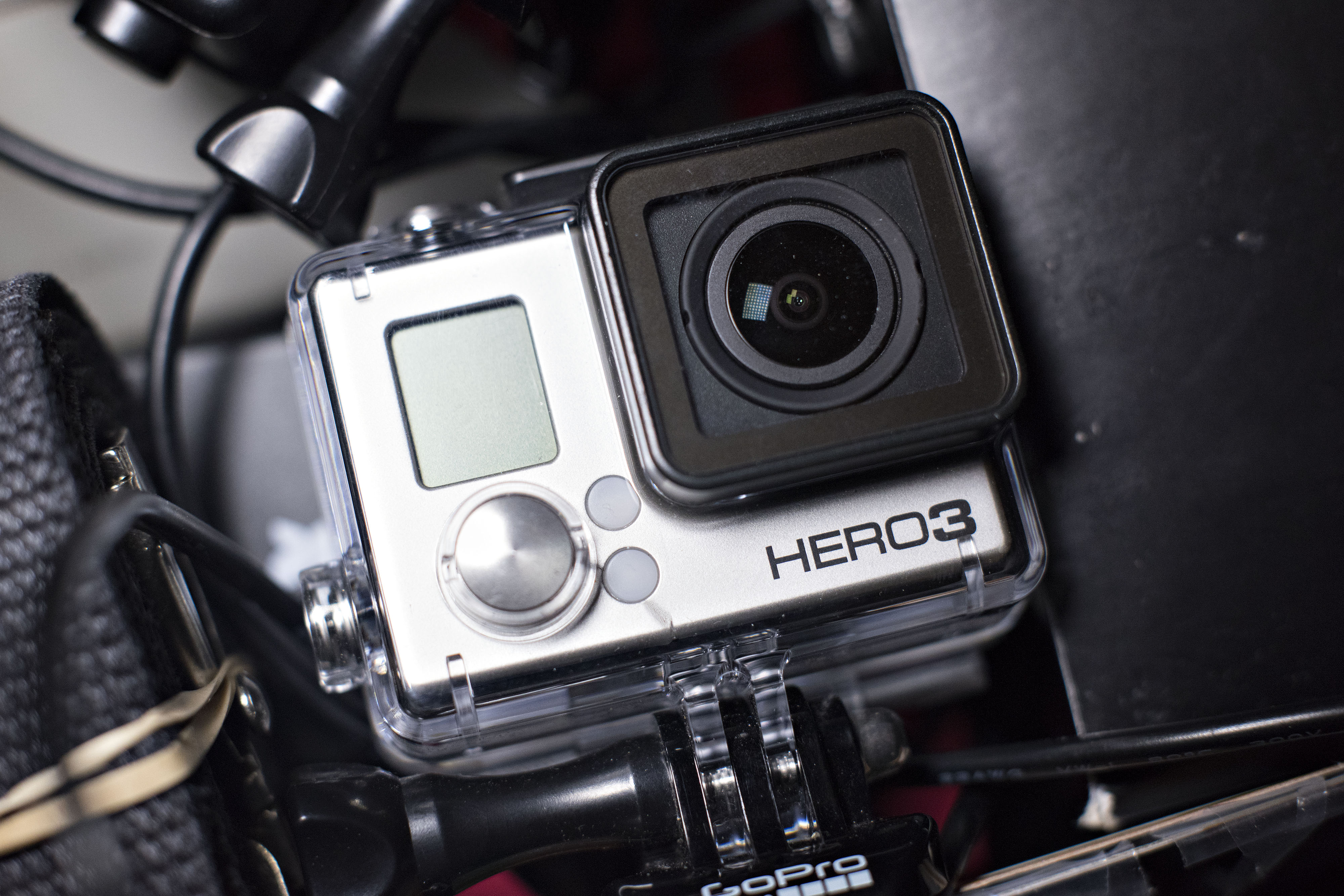 A GoPro Inc. HERO3 camera is arranged for a photograph in Tiskilwa, Illinois, U.S., on Thursday, April 23, 2015.