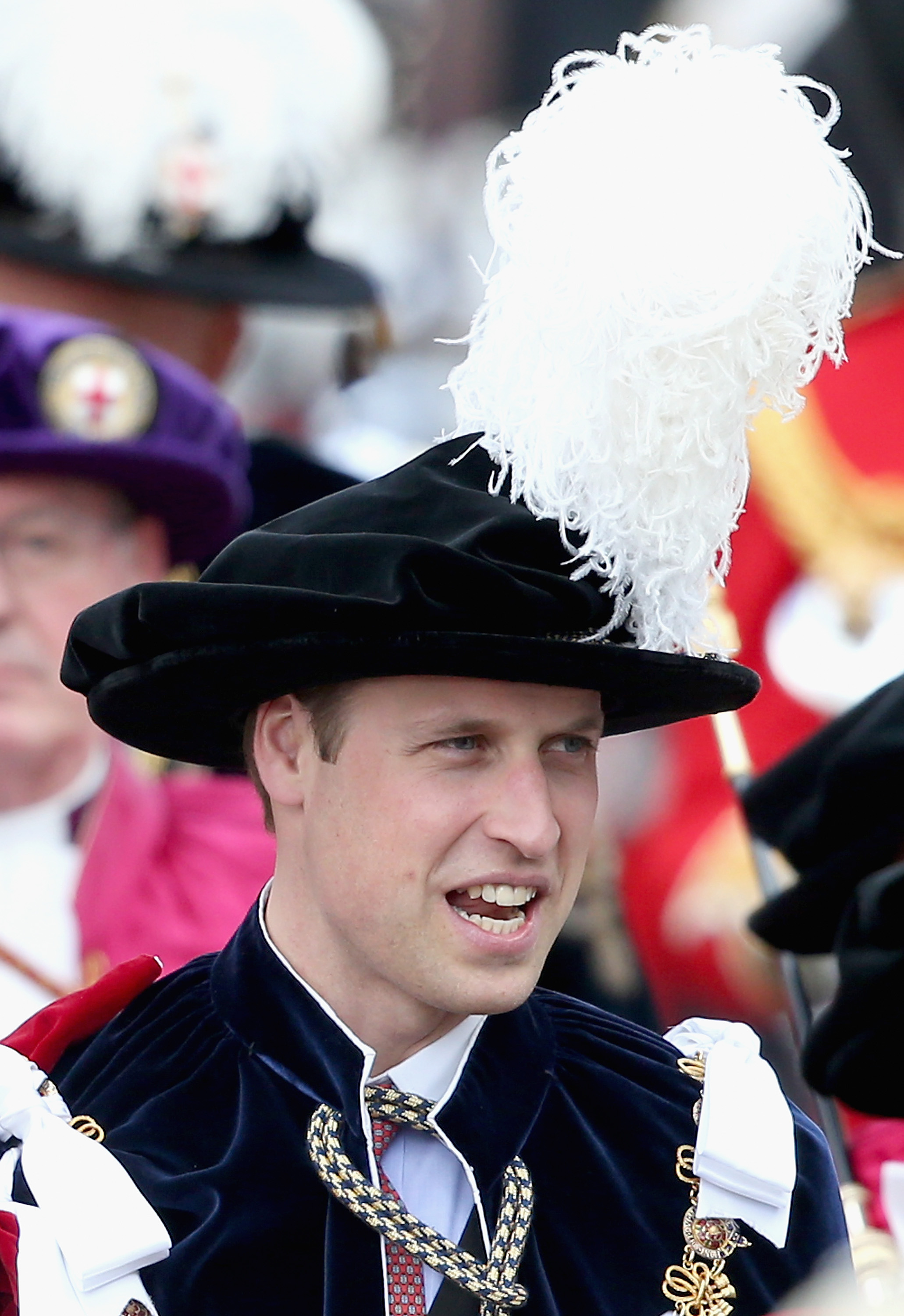 Prince William, Duke of Cambridge attends the Order of the Garter Service at St George's Chapel at Windsor Castle on June 15, 2015 in Windsor, England