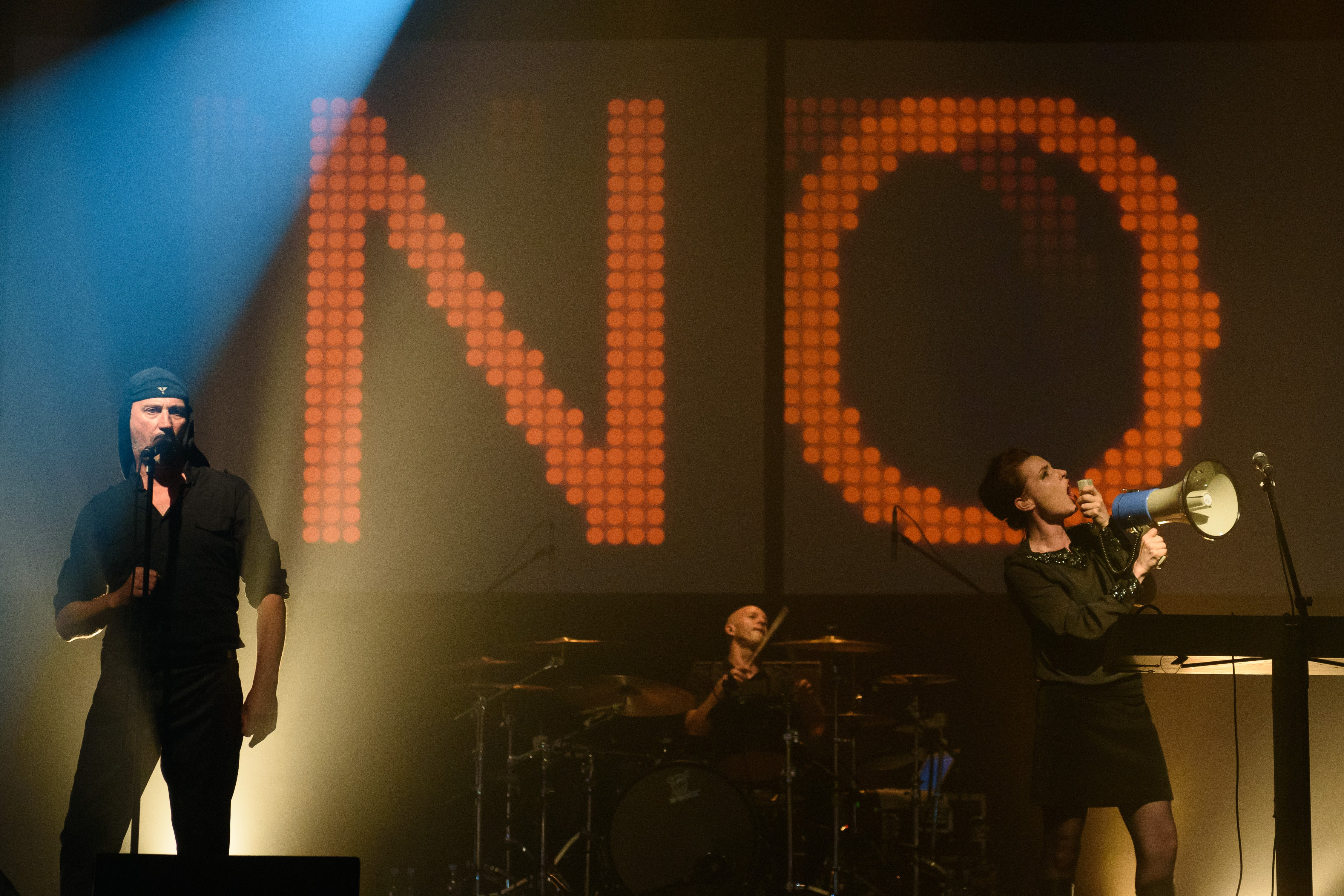 Slovenian music band Laibach performs live in Trbovlje on July 4, 2015.