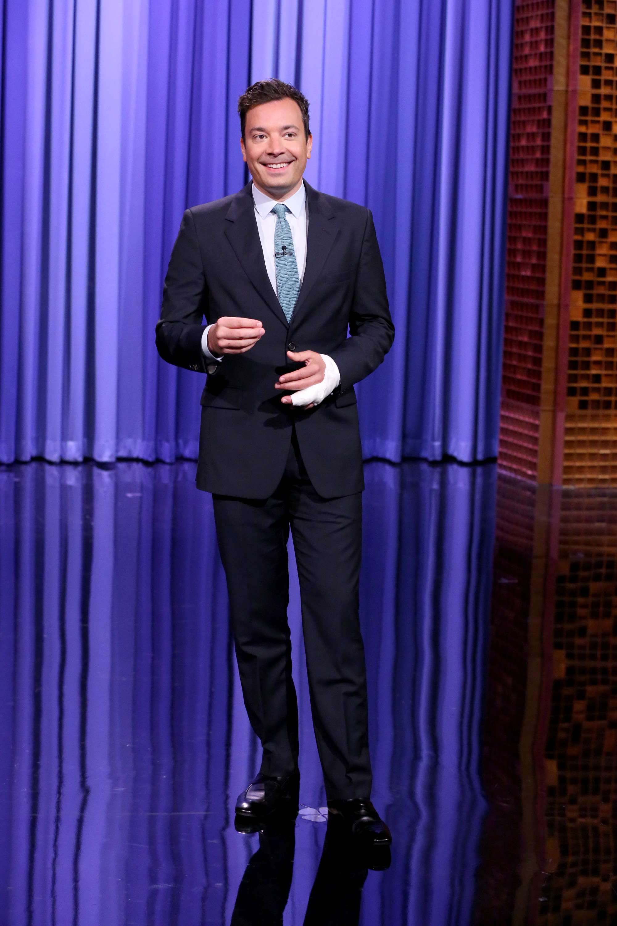 Jimmy Fallon during the monologue on July 13, 2015