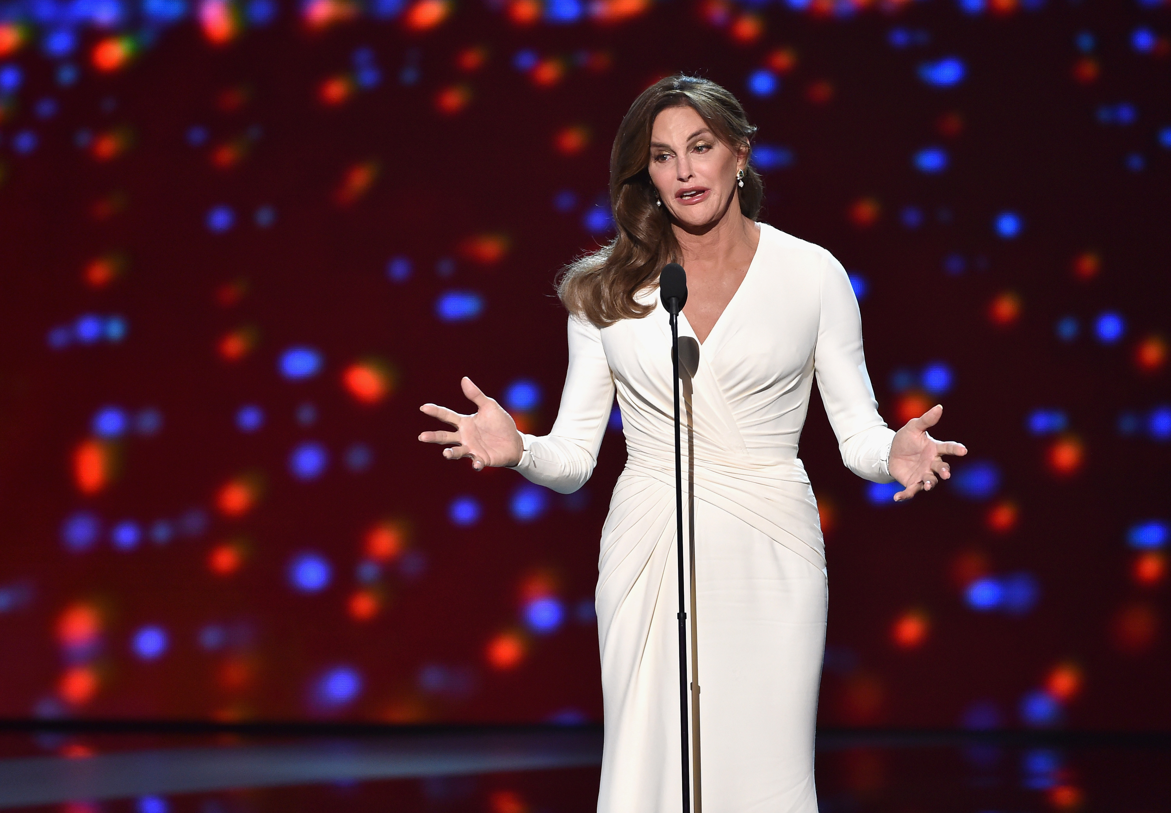 Honoree Caitlyn Jenner accepts the Arthur Ashe Courage Award onstage during The 2015 ESPYS at Microsoft Theater on July 15, 2015
