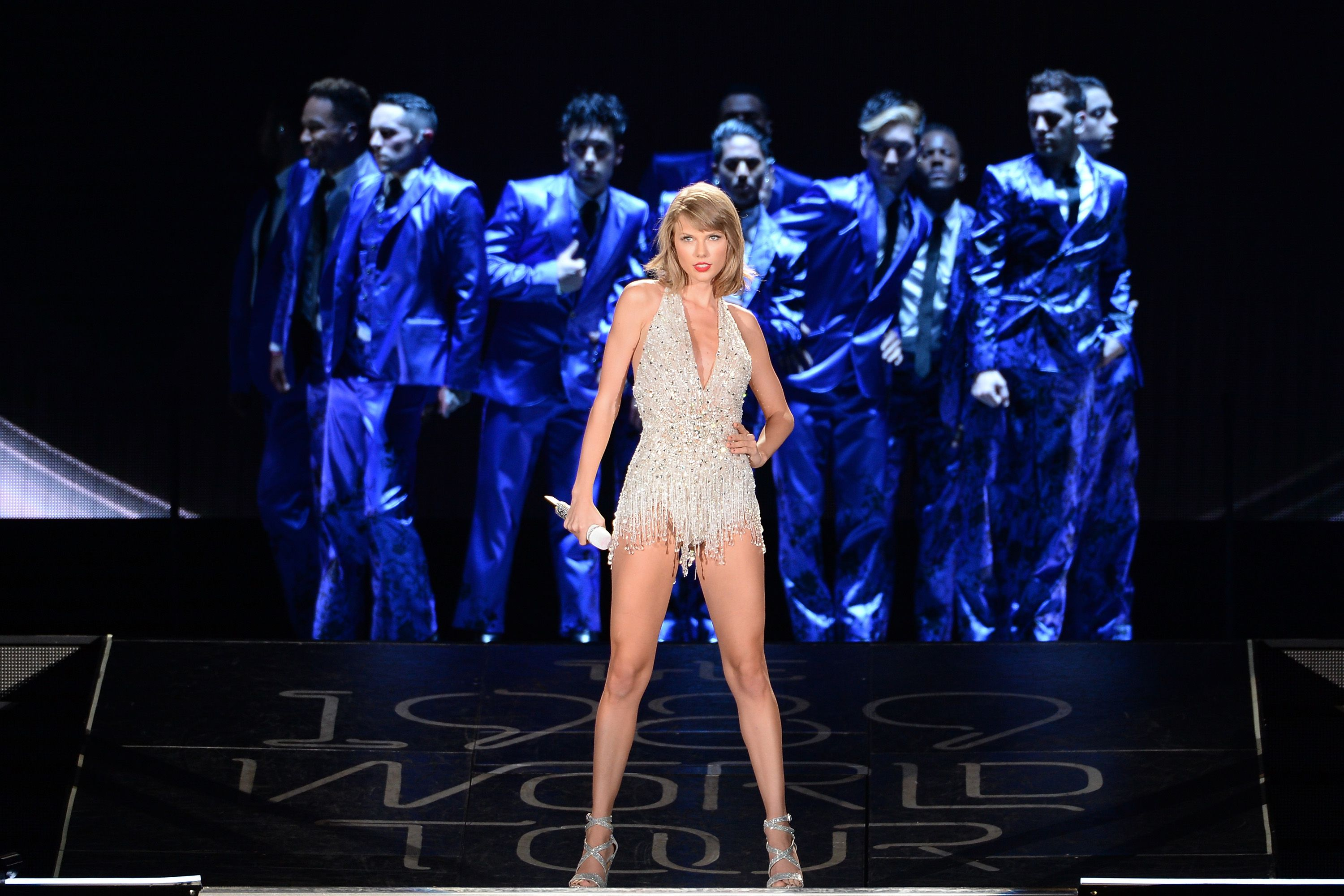 Taylor Swift performs during The 1989 Tour at Soldier Field on July 18, 2015 in Chicago, Illinois.