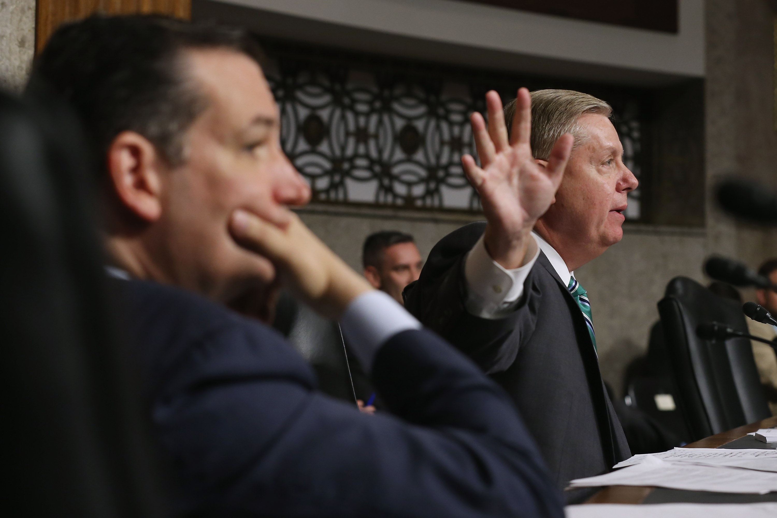 Could we win a war with Iran?  asks Senator Lindsey Graham, alongside Senator Ted Cruz.