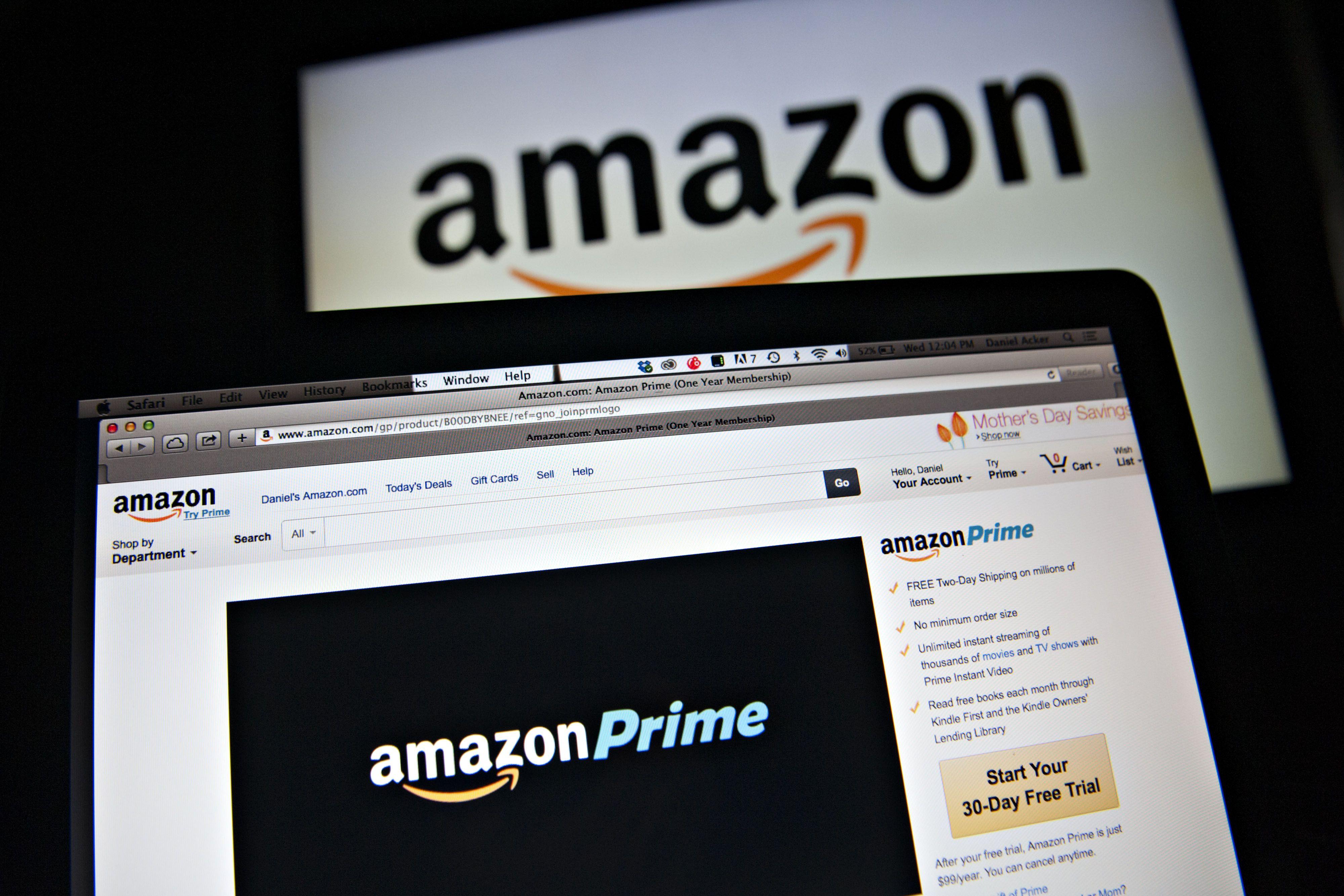Amazon.com's website.