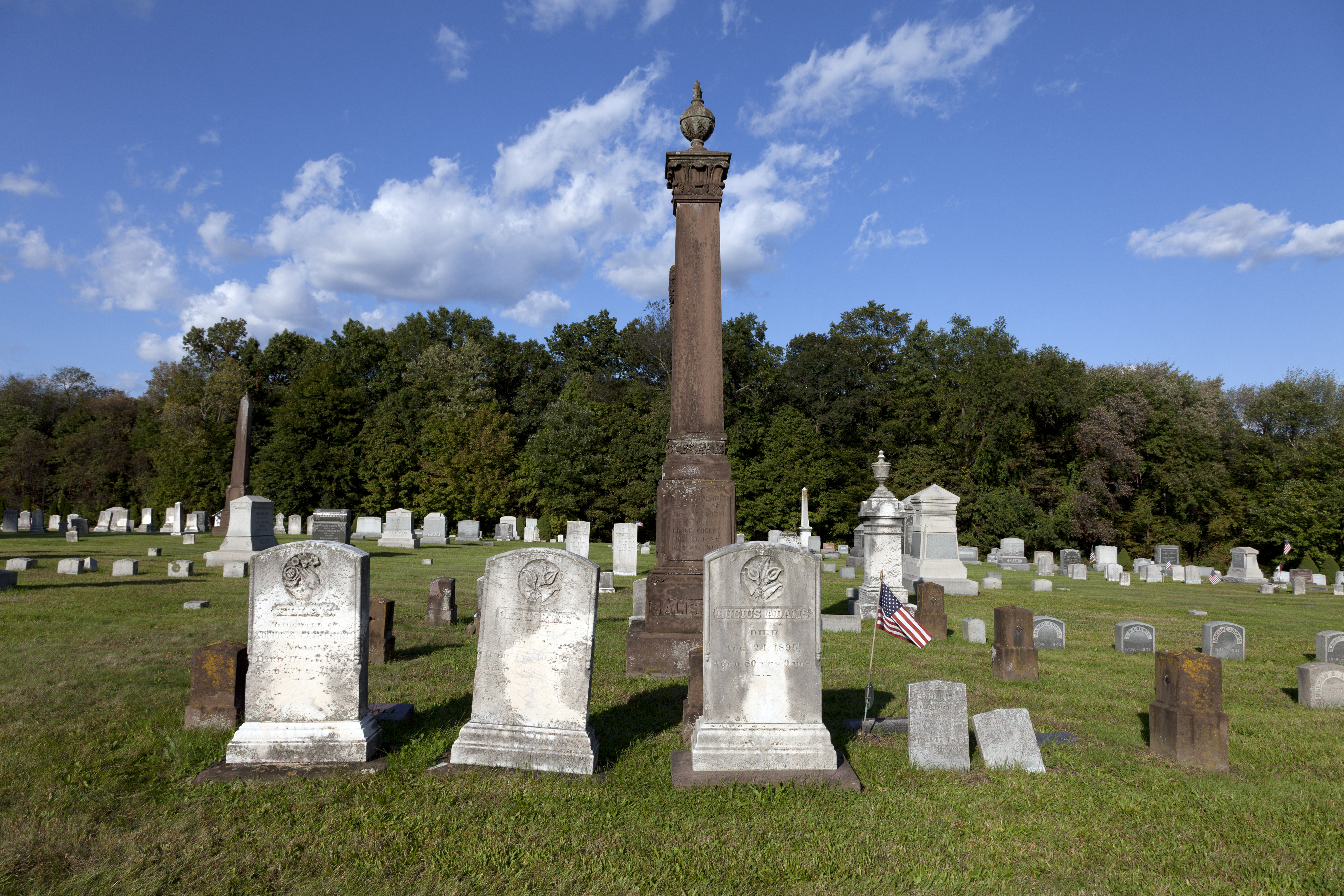 The West Suffield cemetery in Connecticut.