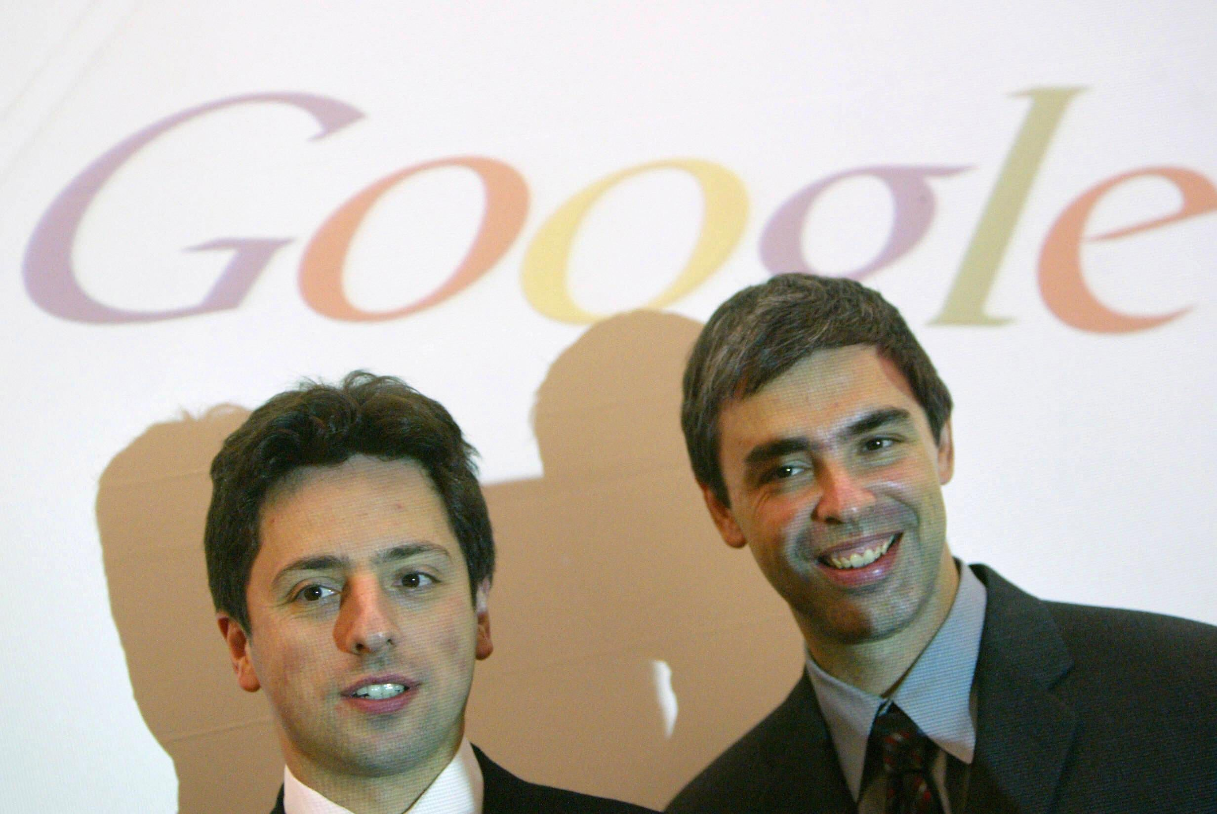 Google co-founders Sergey Brin, left, and Larry Page.