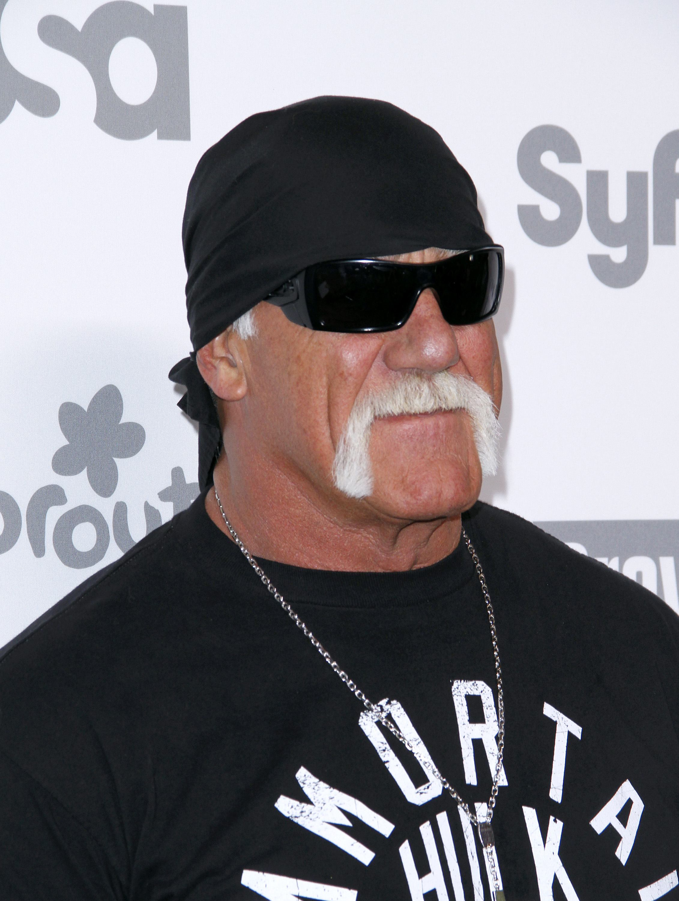 Hulk Hogan appears during the 2015 NBCUniversal Cable Entertainment Upfront at The Jacob K. Javits Convention Center on May 14, 2015 in New York City.