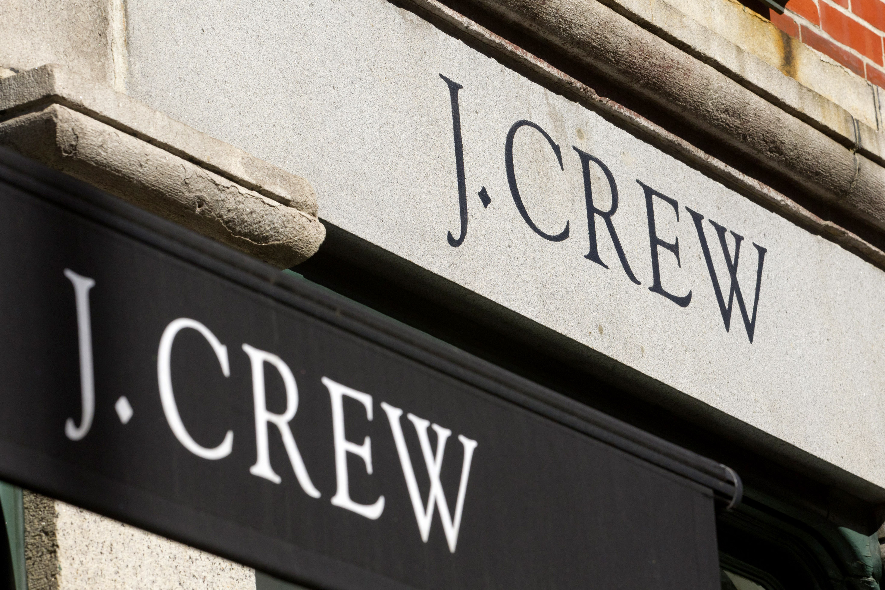 J. Crew Group Inc. signage is displayed outside of a retail store in New York on March 1, 2011.