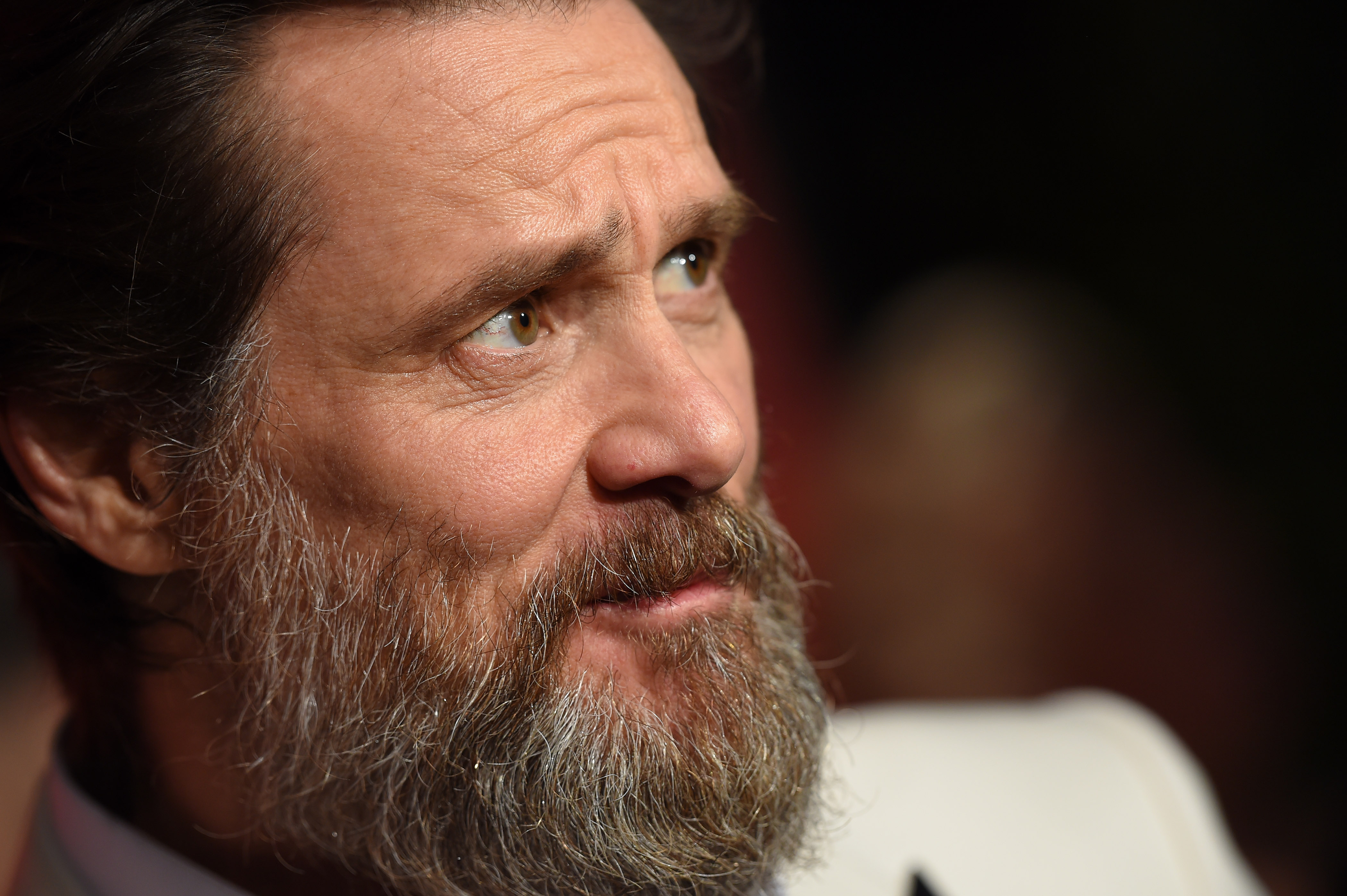 Actor Jim Carrey arrives at LACMA's 50th Anniversary Gala at LACMA on April 18, 2015 in Los Angeles.