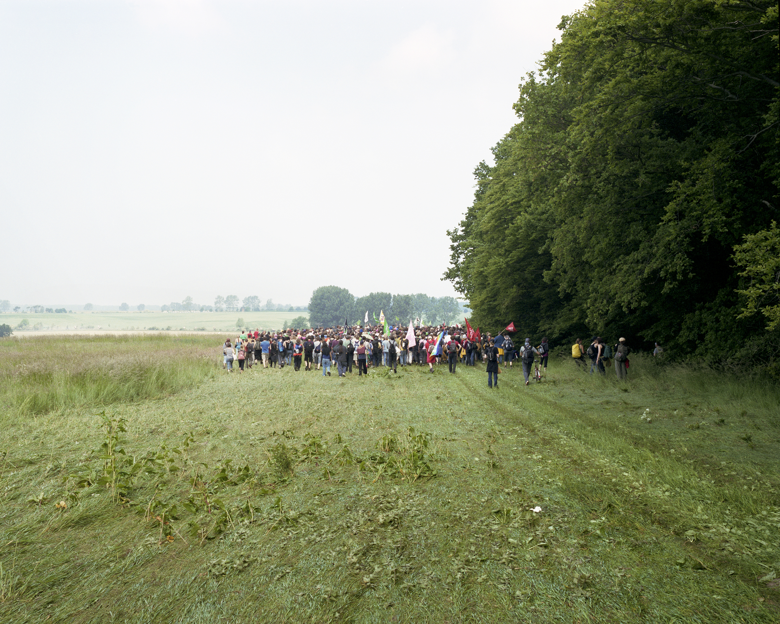 A crowd protests the G8 Summit in Heiligendamm, Germany.                               2007