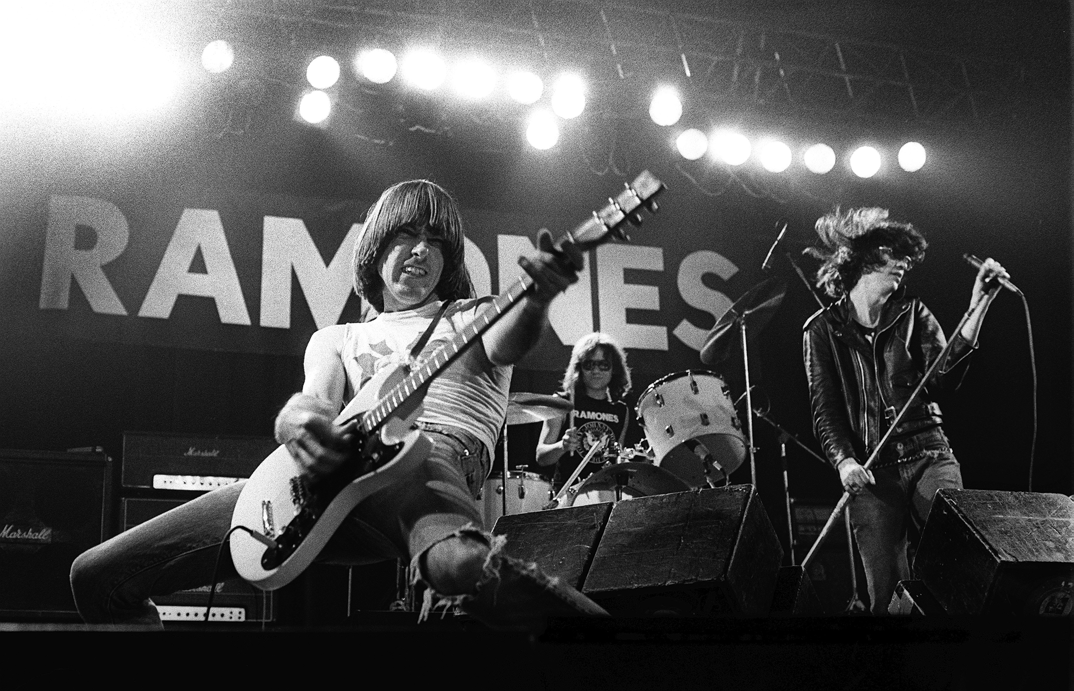 Johnny Ramone No one hated guitar solos more than Johnny Ramone, so it's not surprising he perfected the punk style, packing chords together tightly and leaving no space for freelancing.