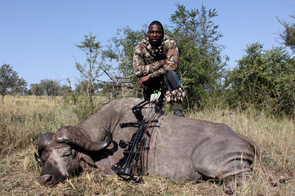 Justin Tuck, defensive end for the Oakland Raiders, told Outdoor Life about his enjoyment of the challenge of bow hunting. He also discussed his big game trip to Africa, where he shot a hartebeest, zebra, wildebeest, hyena and water buffalo.
