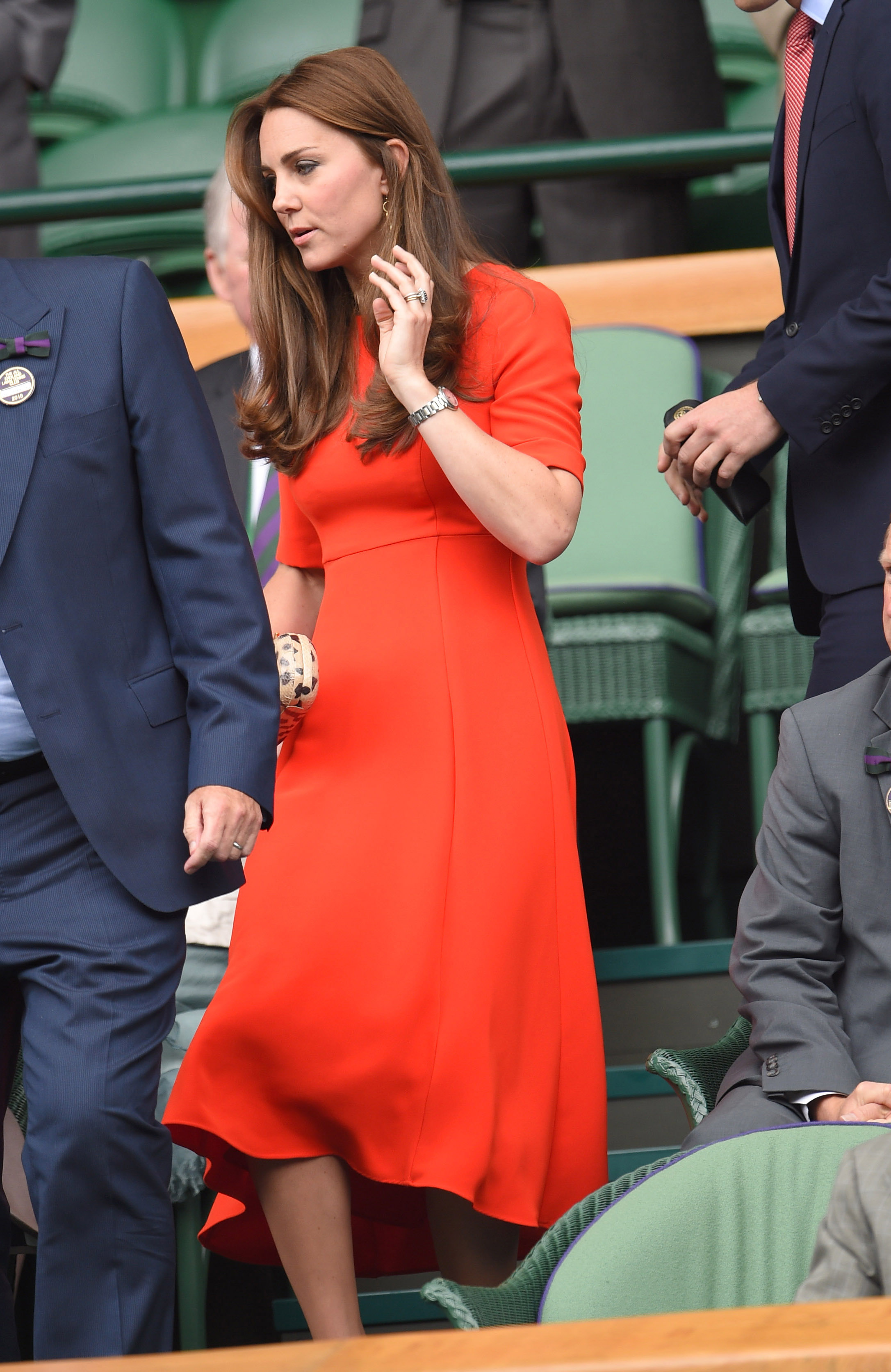 Catherine, Duchess of Cambridge attends day nine of the Wimbledon Tennis Championships at Wimbledon on July 8, 2015 in London.