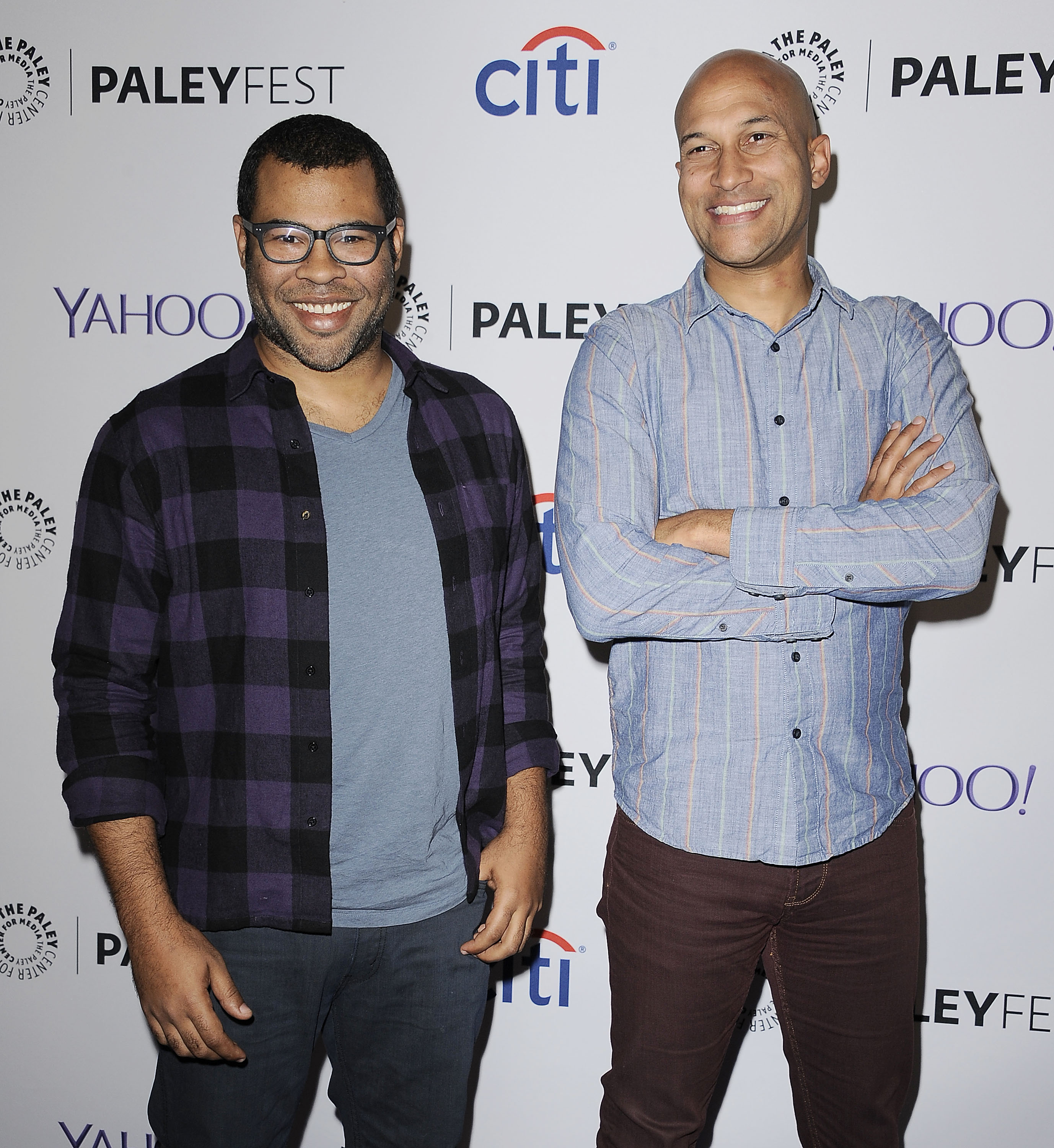 Jordan Peele and Keegan-Michael Key attend a salute to Comedy Central at the 32nd annual PaleyFest at Dolby Theatre on March 7, 2015 in Hollywood, California.
