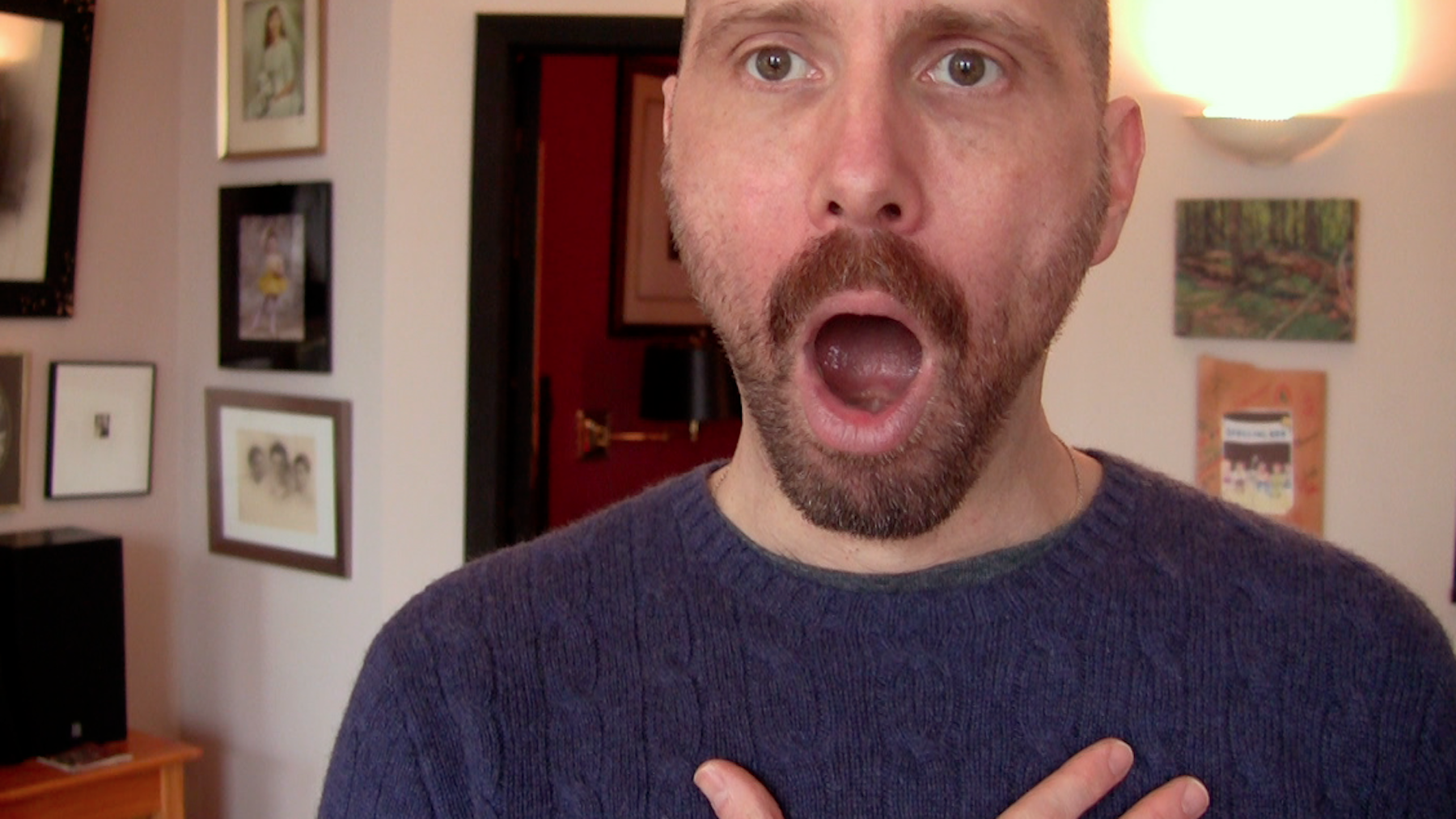 Director David Thorpe practices vocal exercises in Do I Sound Gay?