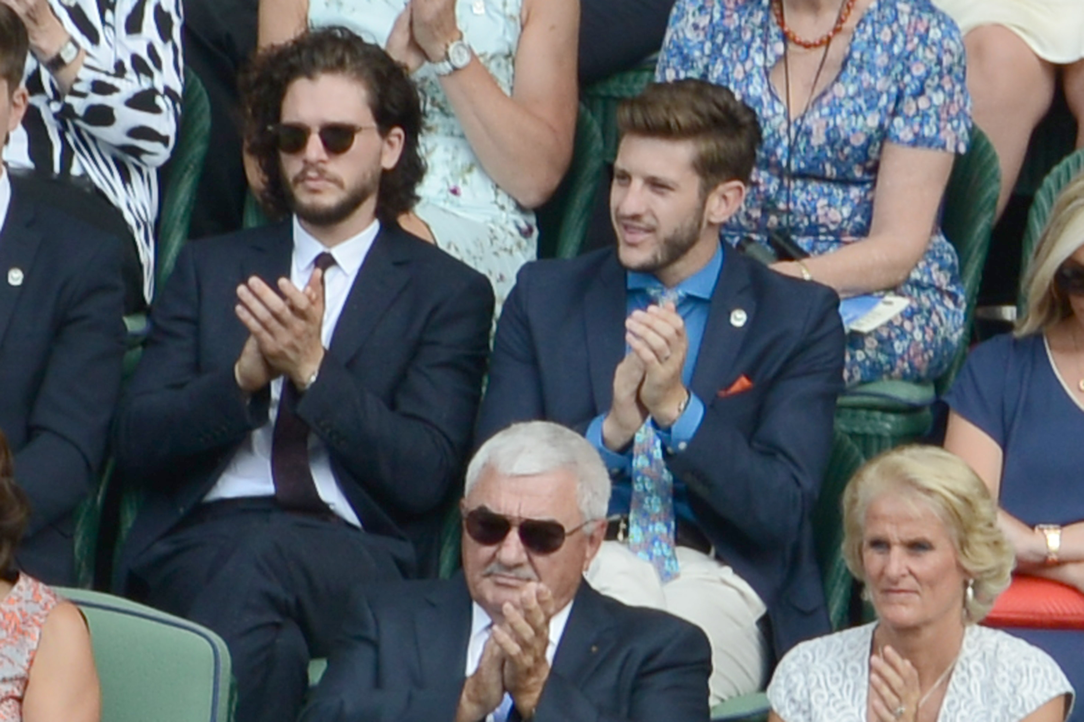 Kit Harrington attends Wimbledon in London on July 2, 2015.