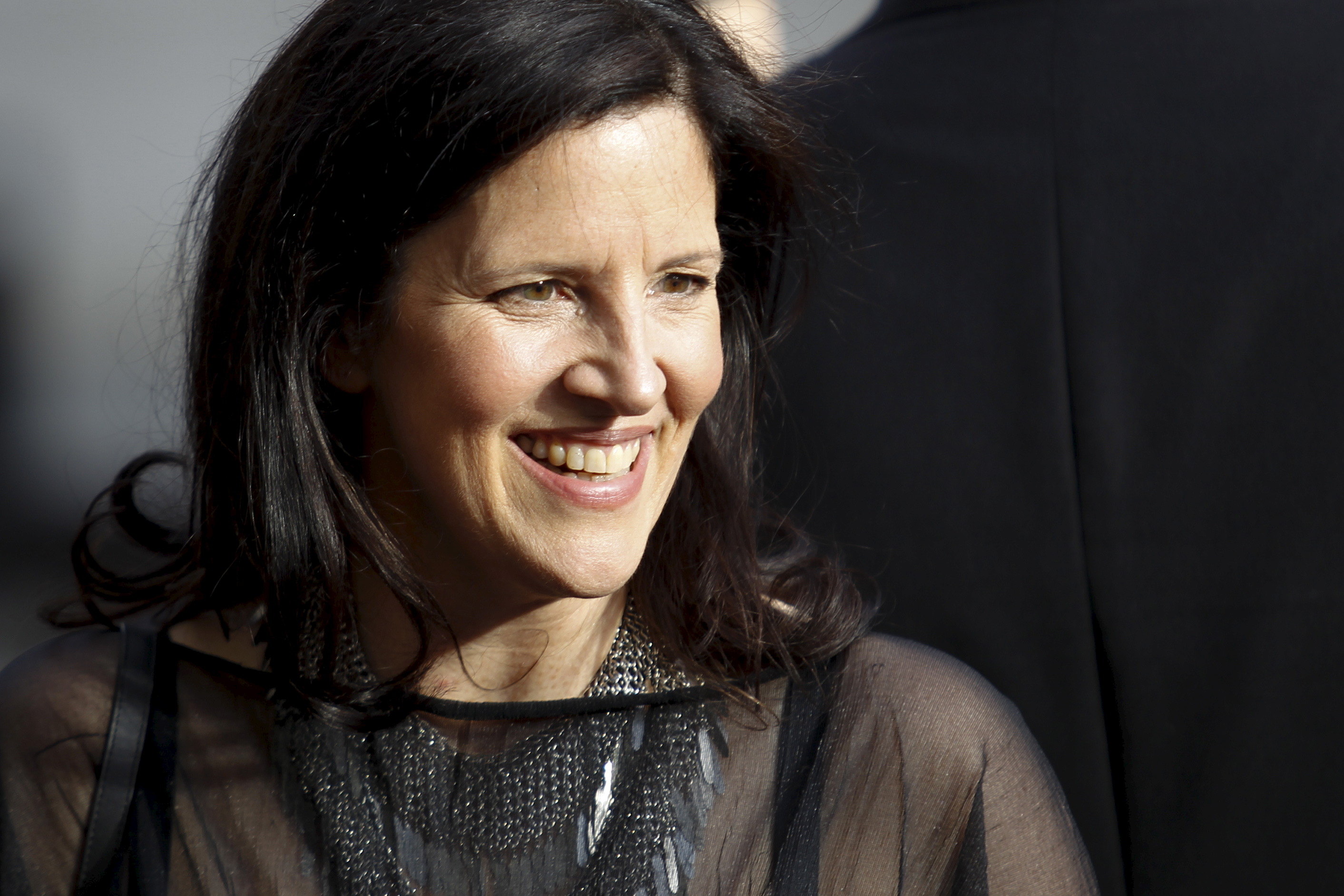 Director Laura Poitras arrives to attend the Chaplin award at Alice Tully Hall in New York April 27, 2015.