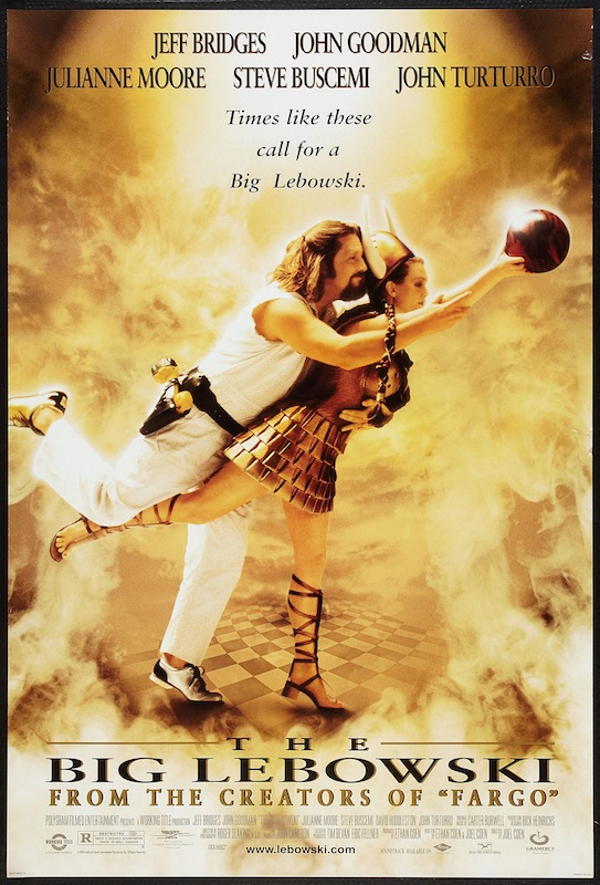 Poster for the movie 'The Big Lebowski,' 1998.