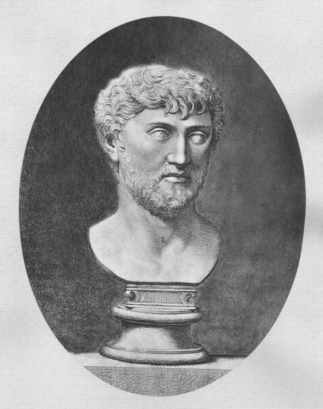Roman poet and philosopher Titus Lucretius Carus (circa 95 - 55 BC).