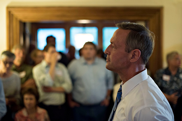Martin O'Malley, former governor of Maryland and 2016 Democratic presidential candidate, pauses as he speaks to potential voters at a private residence in Mt. Vernon, Iowa, U.S., on Thursday, June 11, 2015.