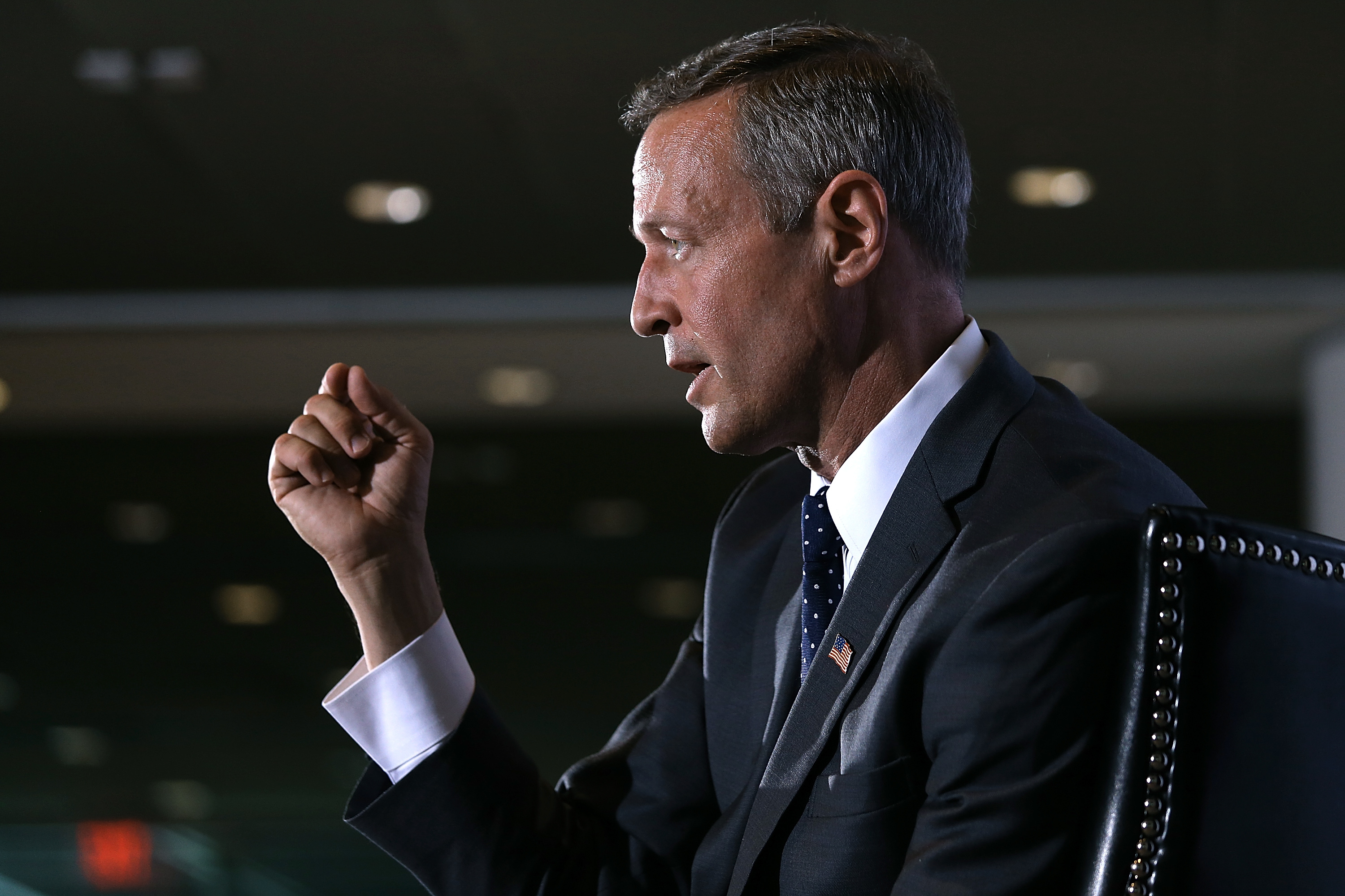 U.S. Democratic presidential candidate and former Maryland Gov. Martin O'Malley speaks at the U.S. Hispanic Chamber of Commerce in Washington, DC. on June 3, 2015.