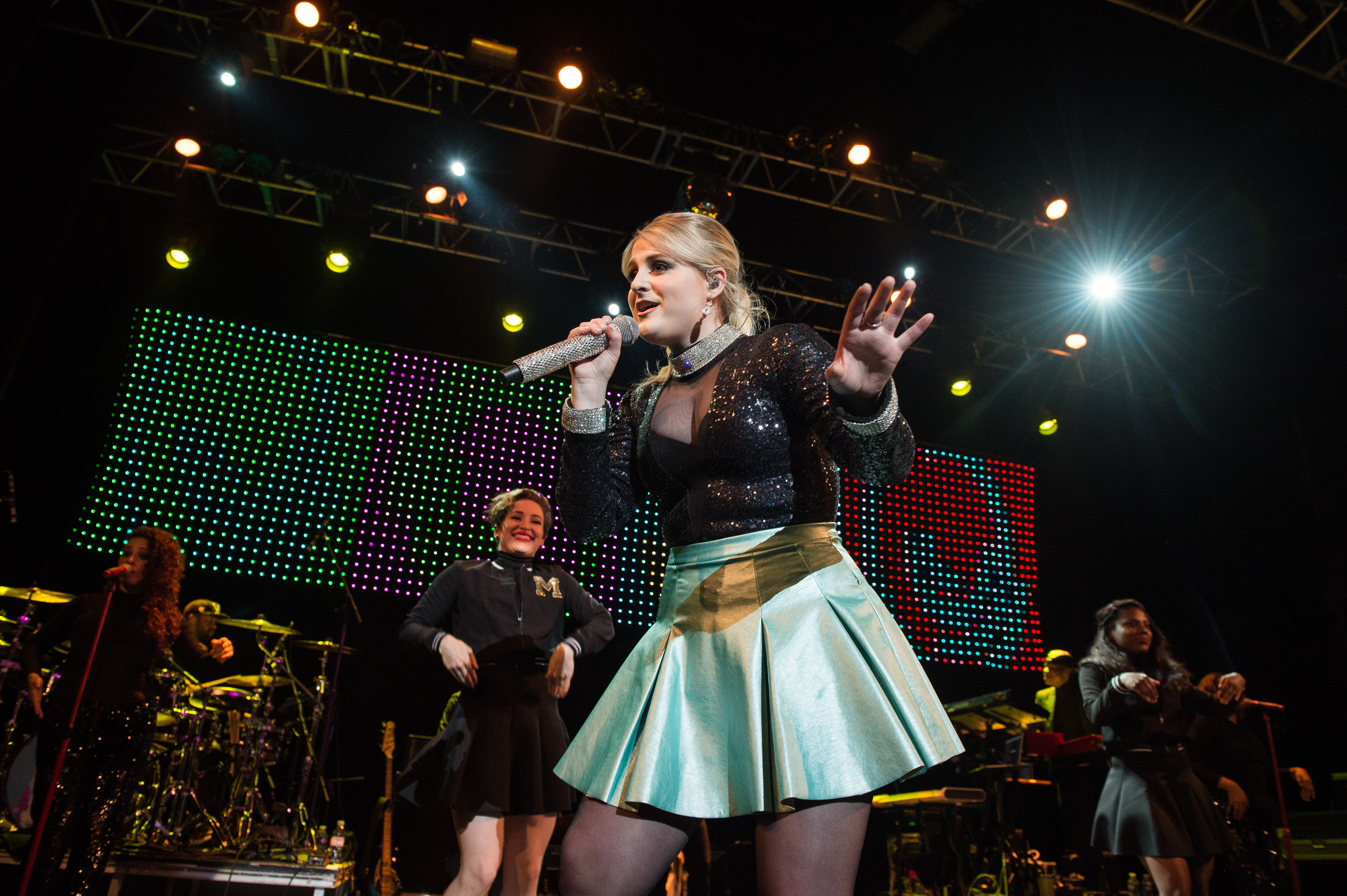 Meghan Trainor performs at Le Trianon on May 28, 2015 in Paris, France.