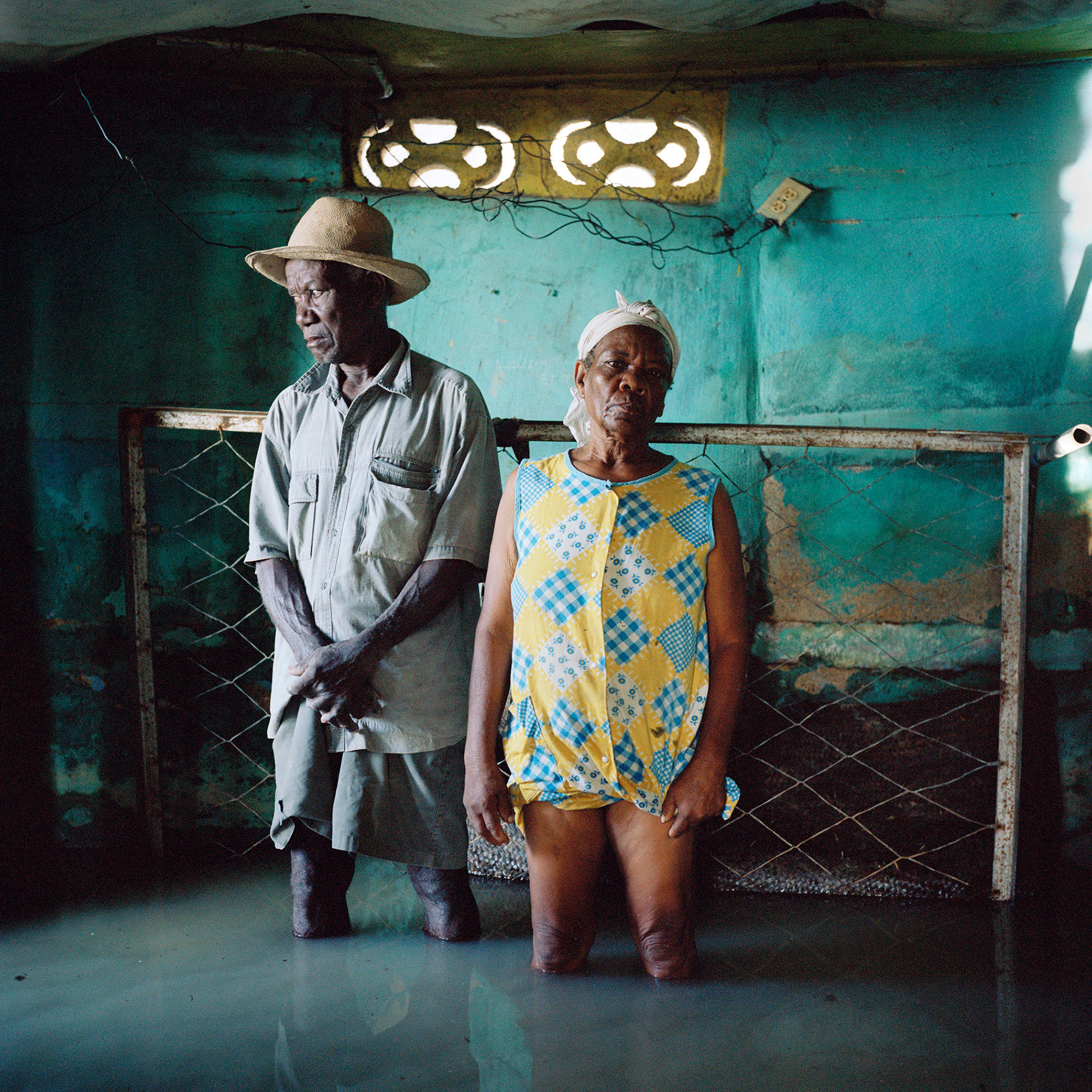 Christa and Salomon Raymond Fils. From the series  Drowing World