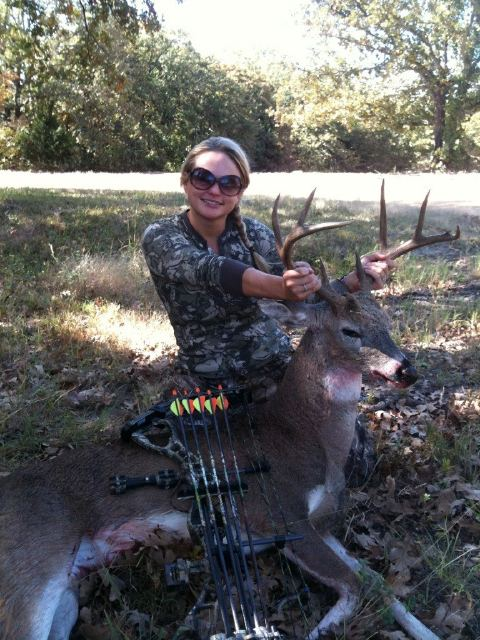 "Miranda Lambert poses with a deer. She also was shown to kill an Alligator during an appearance on the Sportsman Channel's ""Country Boys Outdoors,"" in 2010."