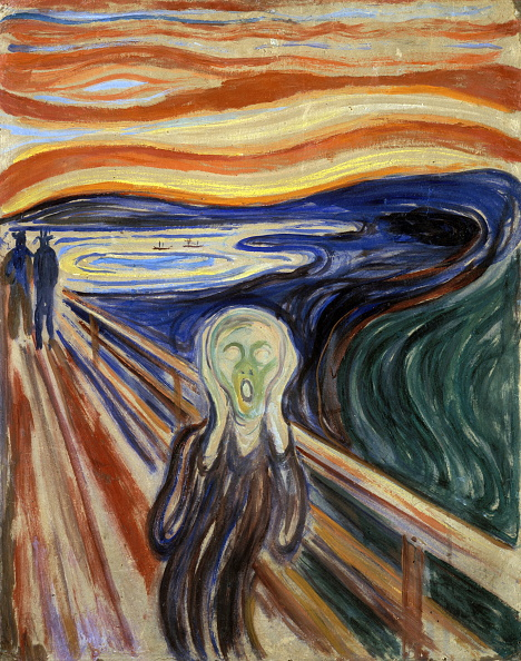 'The Scream' by Edvard Munch (1863-1944).