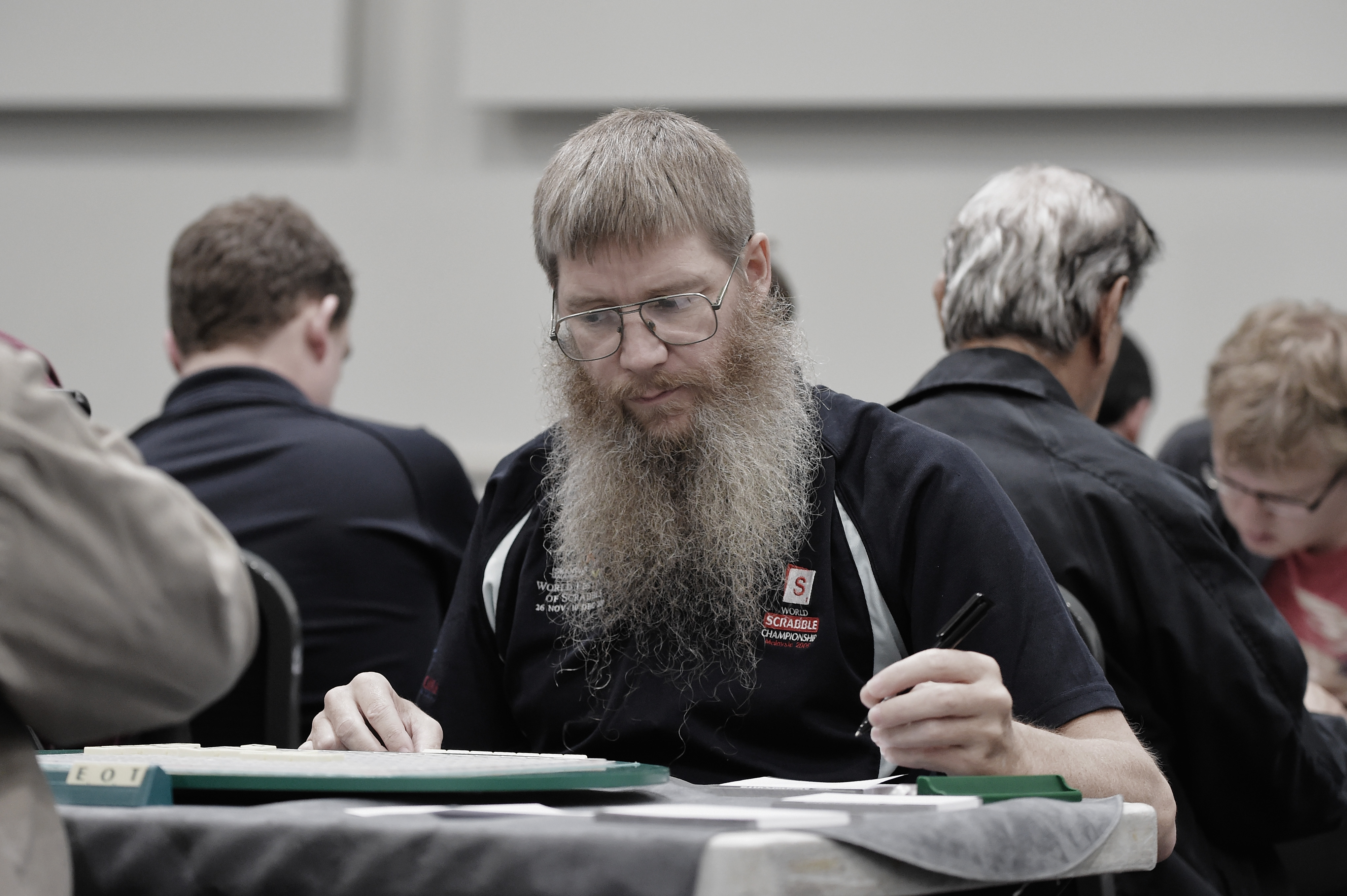Current World Champion Nigel Richards at the Scrabble Champions Tournament, during the Mind Sports International World Championships on November 19, 2014 in London, England.