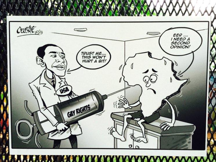 Obama Political Cartoons Africa