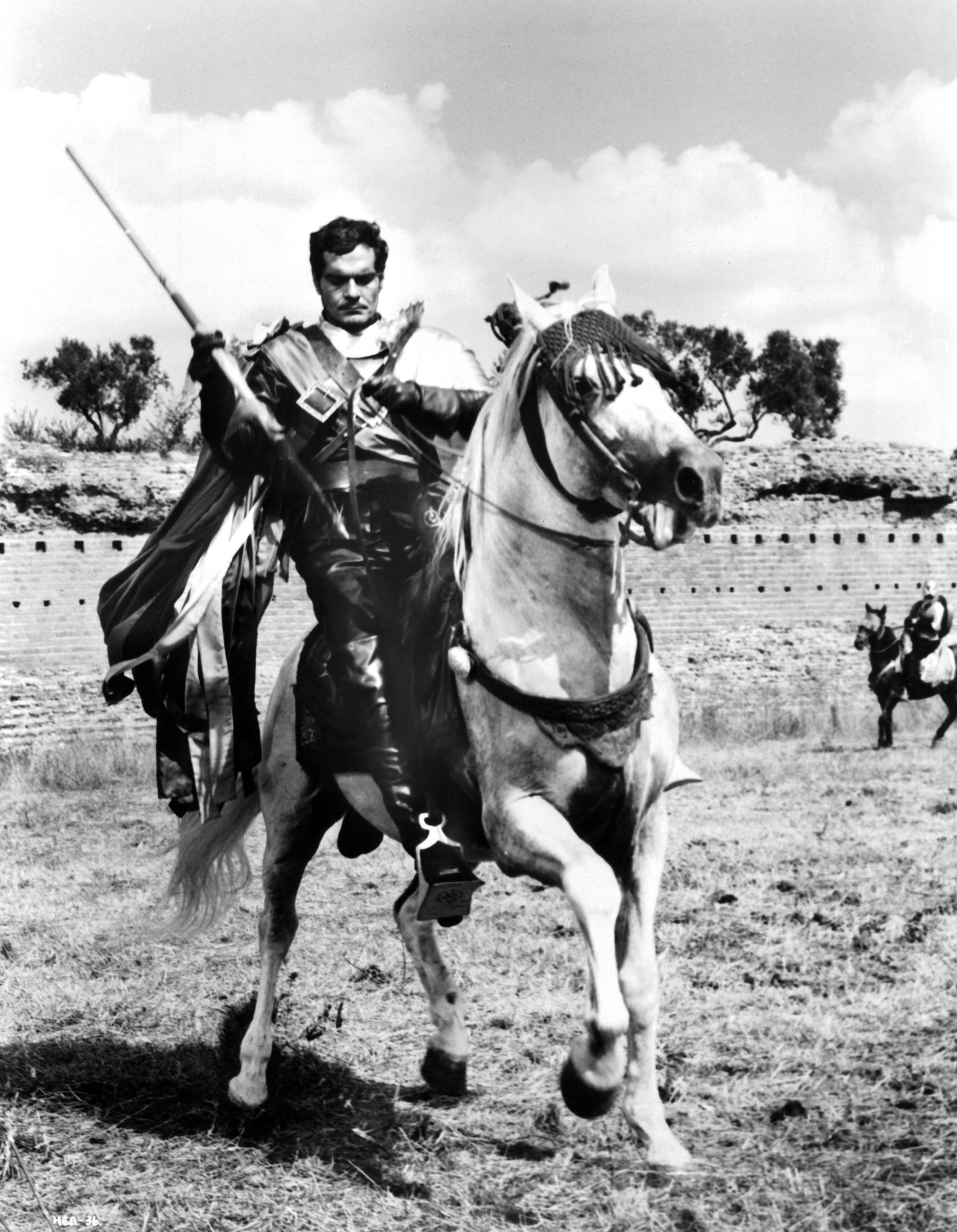 Omar Sharif as Prince Rodrigo Fernandez on the set of the movie More Than a Miracle, 1967.