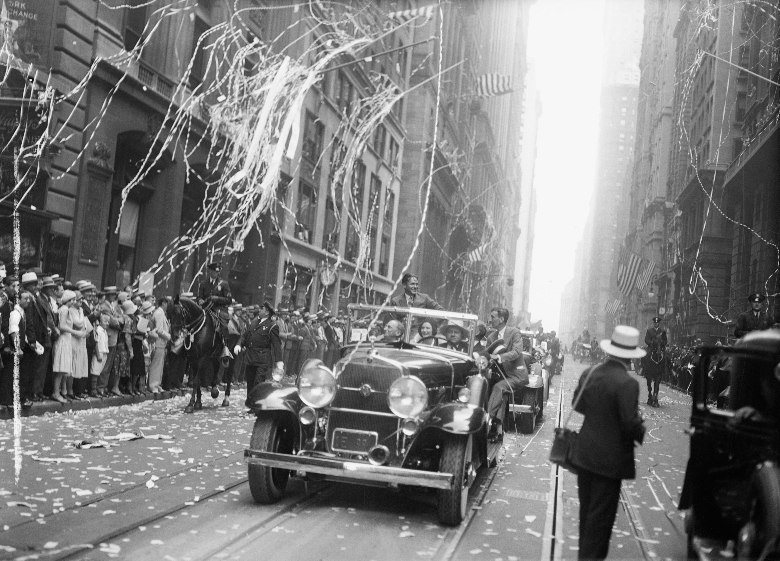British Open champion Bobby Jones is welcomed to New York on July 2, 1930.