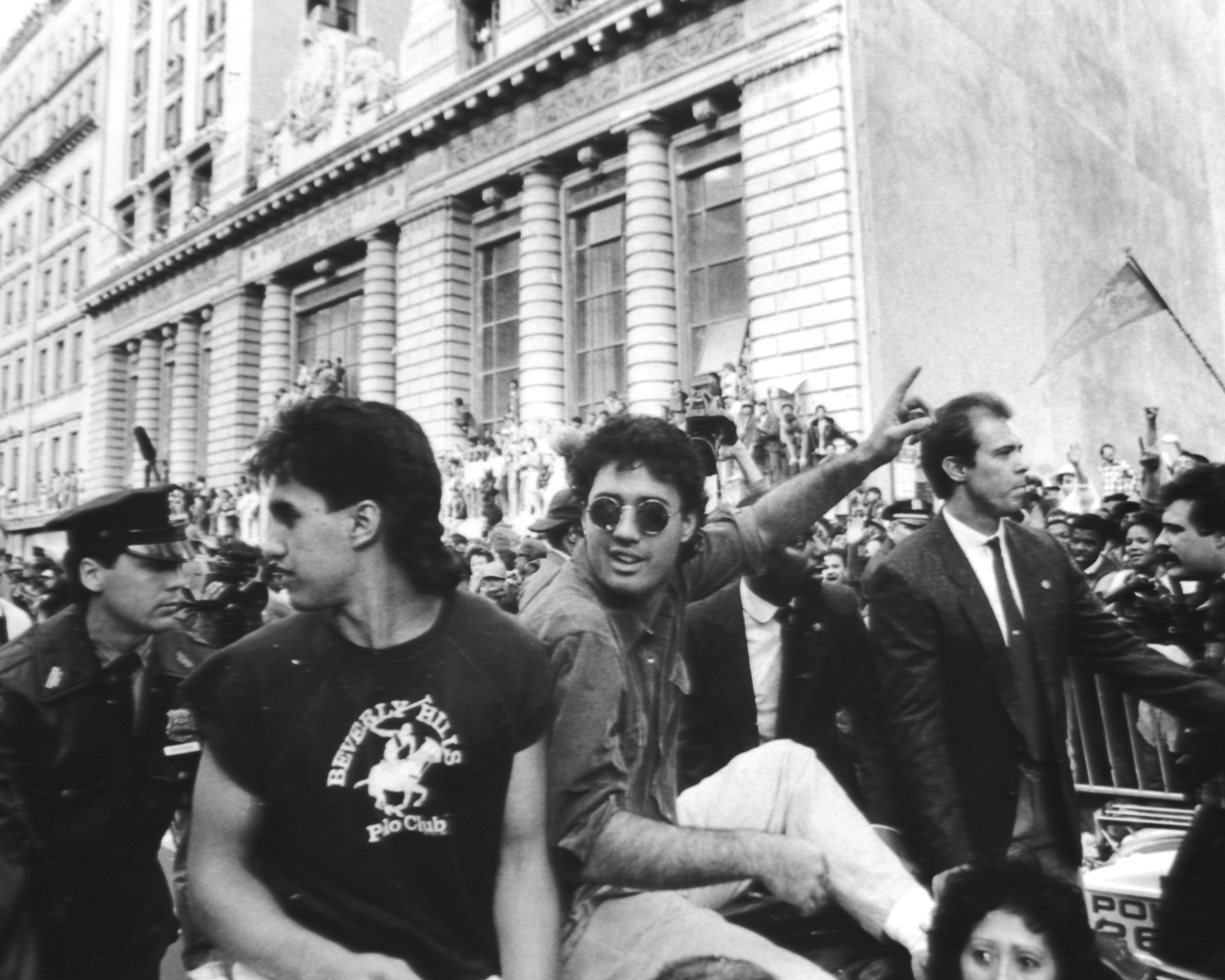 Pitcher Ron Darling at the New York Mets' parade on Oct. 28, 1986, after the team won the World Series.
