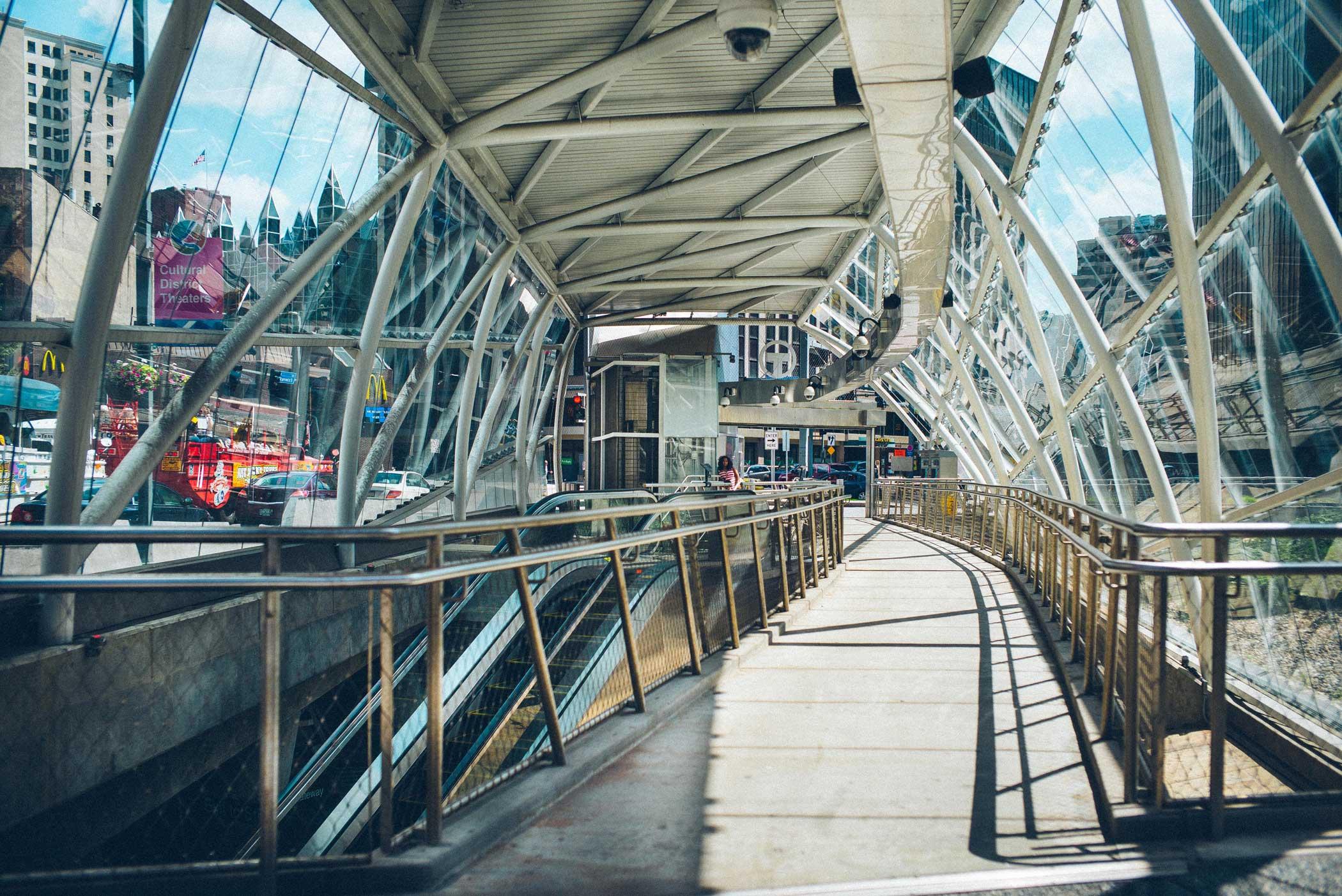 Gateway Pittsburgh Gateway Light Rail Station on June 24, 2015.