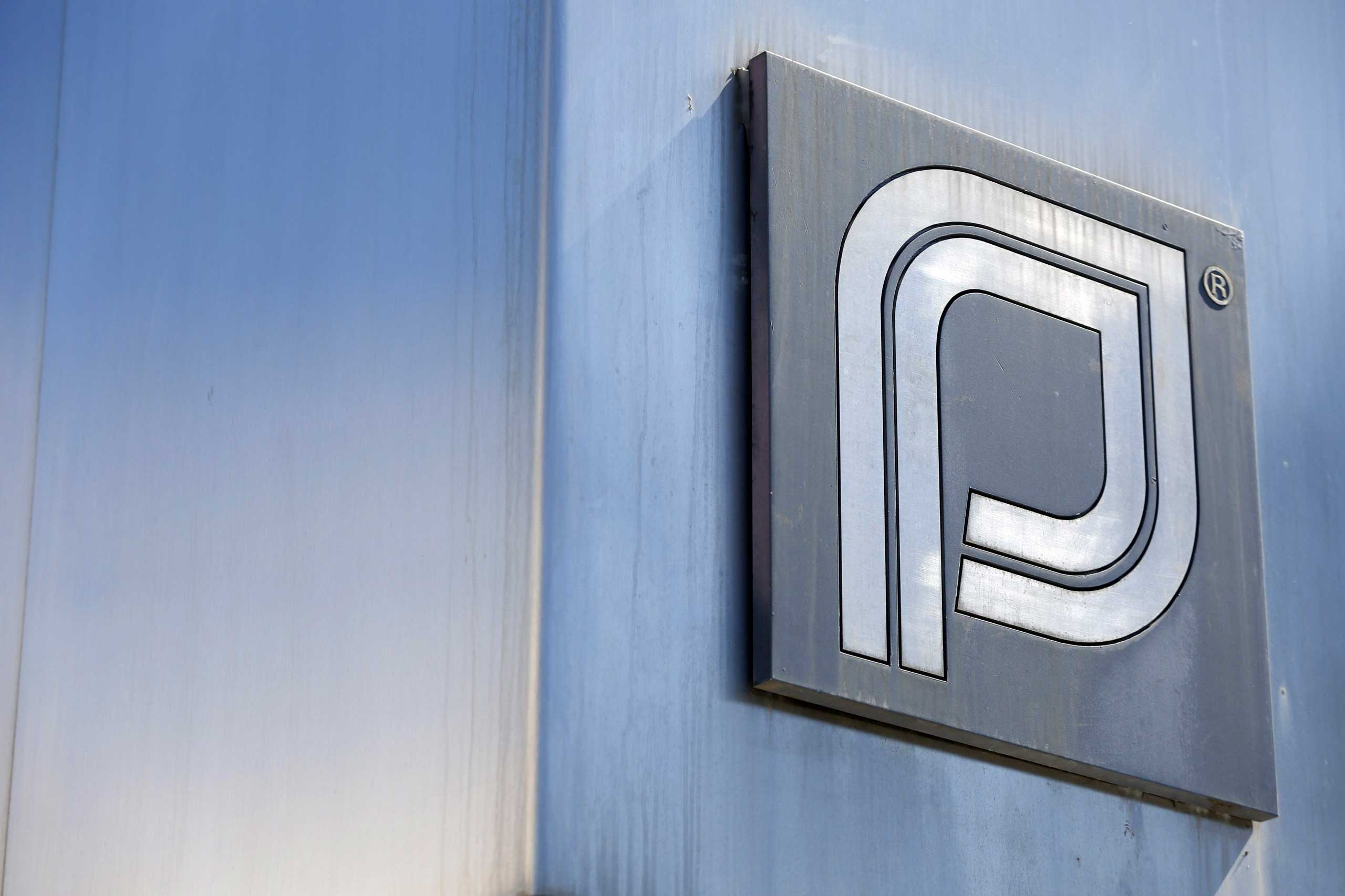 The Planned Parenthood logo is pictured outside a clinic in Boston, June 27, 2014.
