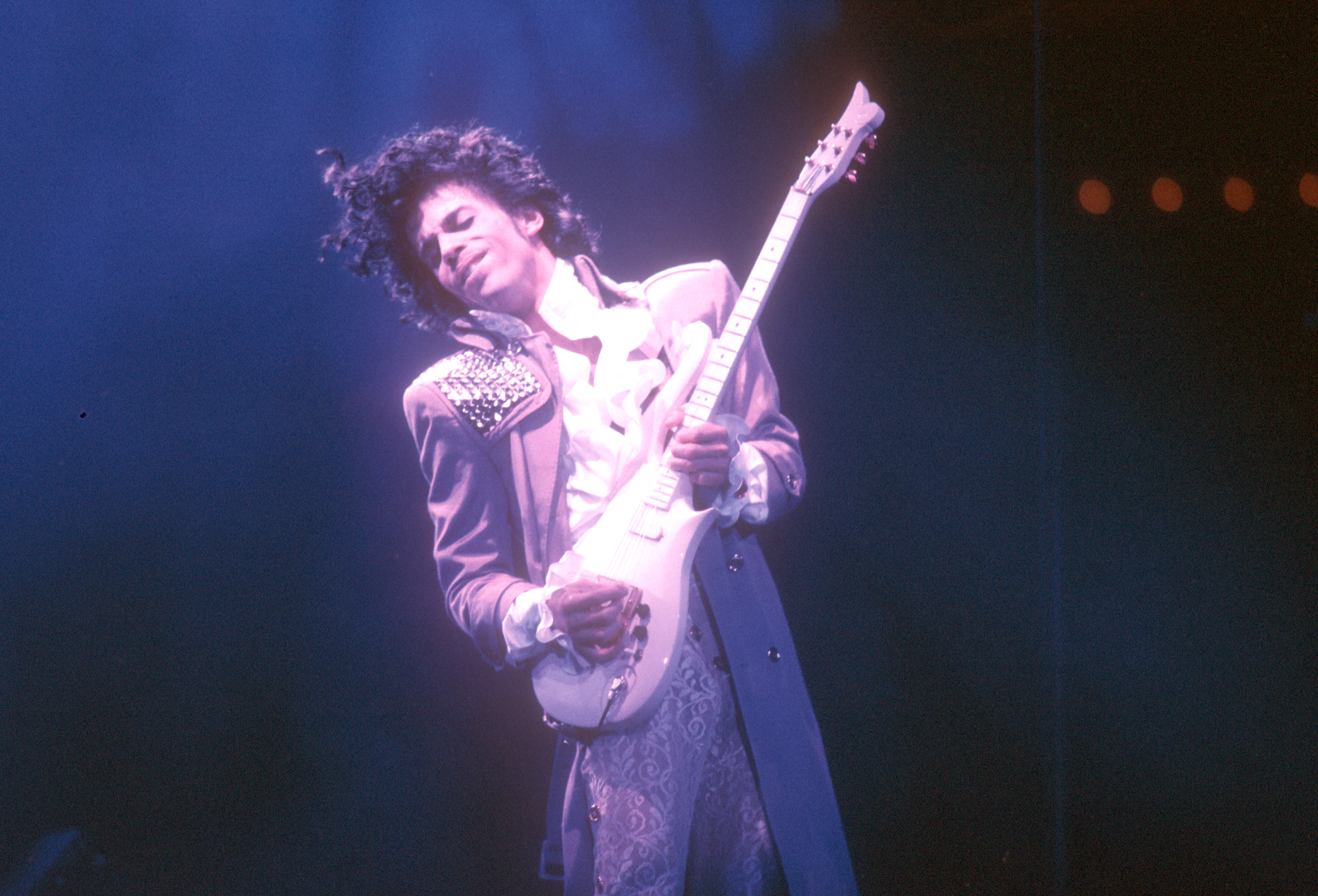 Prince He does a little singing, but Prince also plays a mean lead guitar. The solo on  Let's Go Crazy  is a frequently cited example of his frenetic style, but covers of  Just My Imagination  and  While My Guitar Gently Weeps  prove he can also play under control.