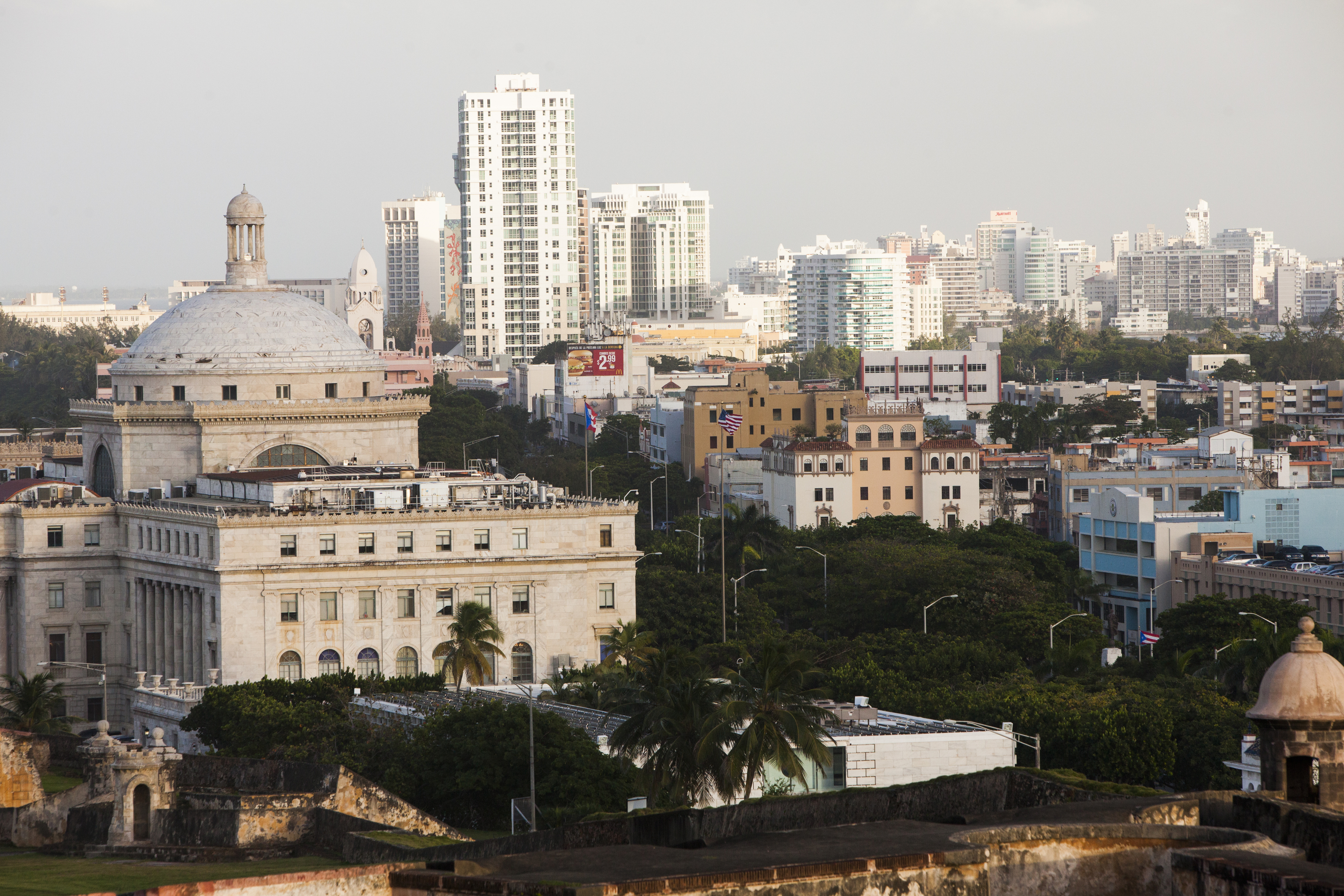 Old San Juan, the center for Puerto Rican tourism, on November 12, 2013.