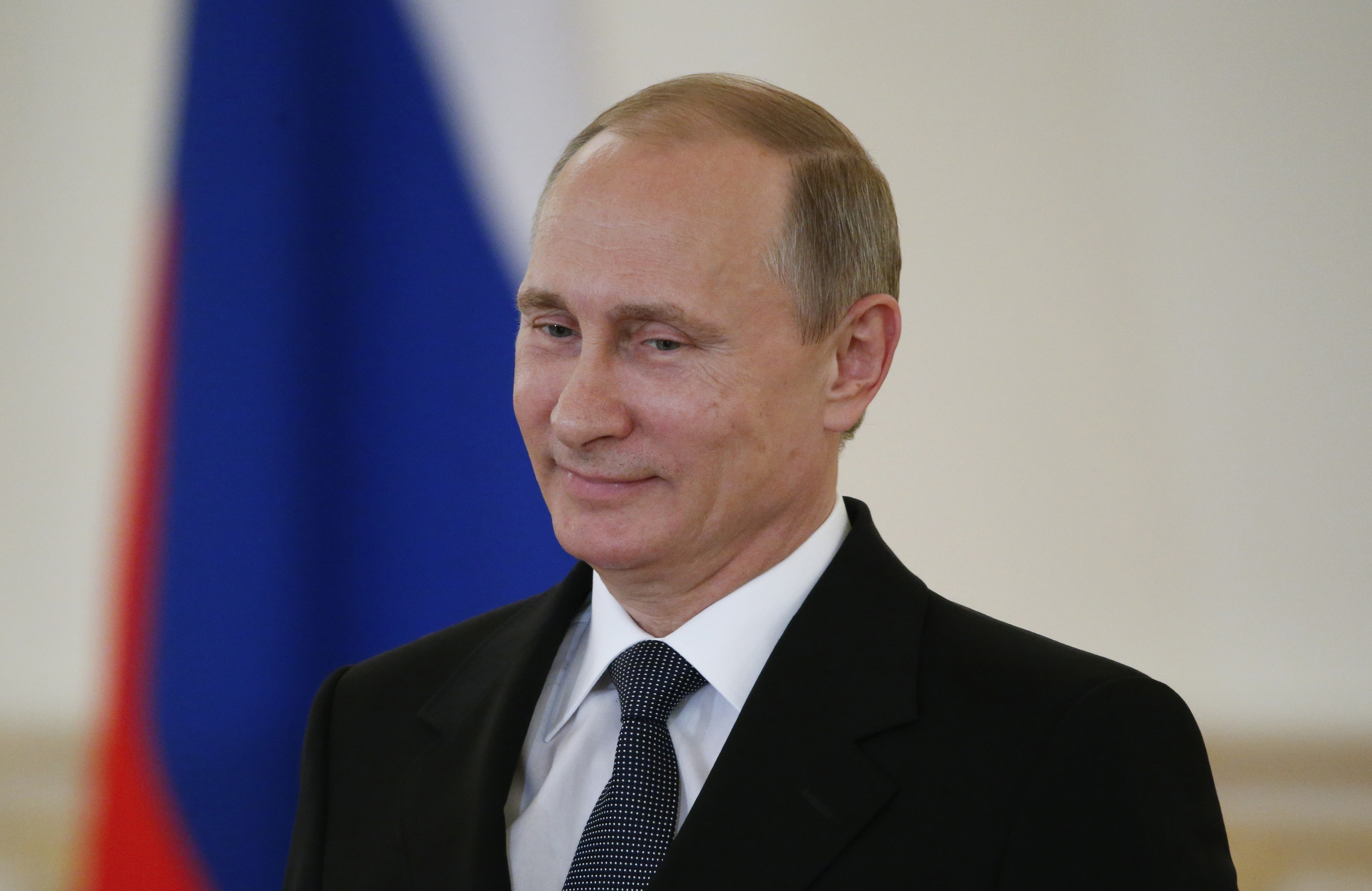 In this May 28, 2015 file photo, Russian President Vladimir Putin attends a ceremony in the Kremlin in Moscow.