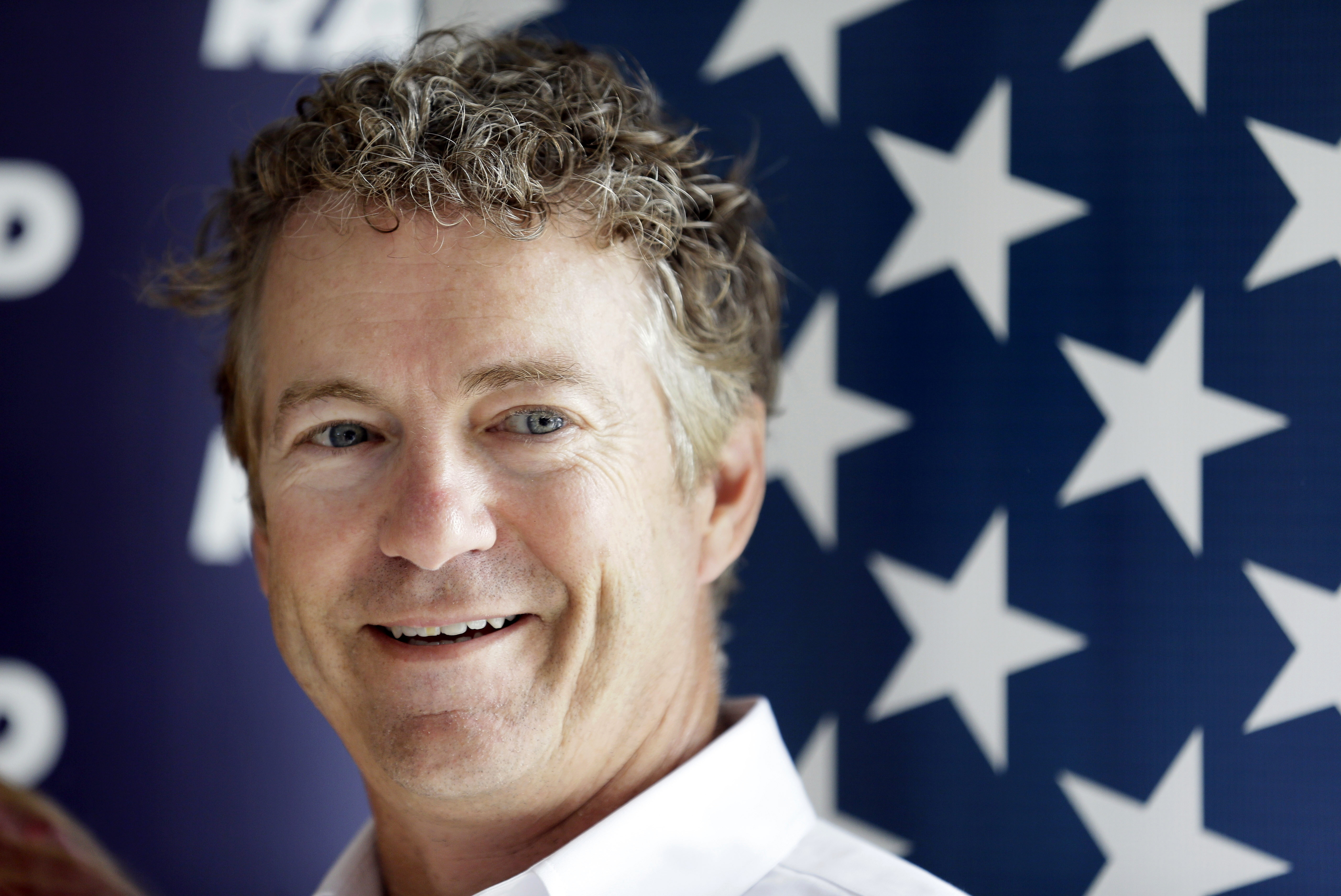 Republican presidential candidate, Sen. Rand Paul waits to speak at a campaign stop at the Craig Lang farm, Thursday, July 2, 2015, in Brooklyn, Iowa.