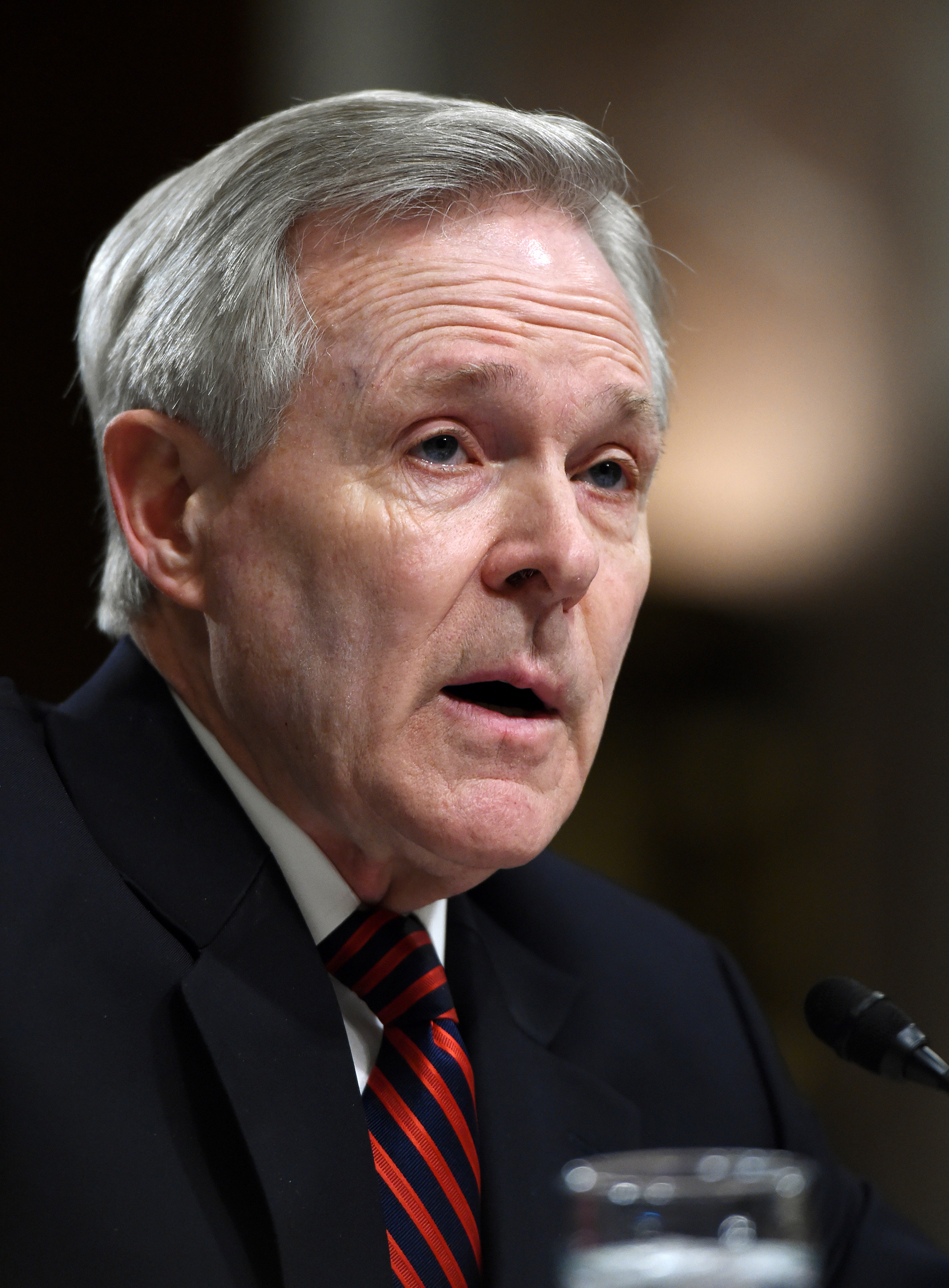 Navy Secretary Ray Mabus testifies on Capitol Hill in Washington on March 10, 2015.