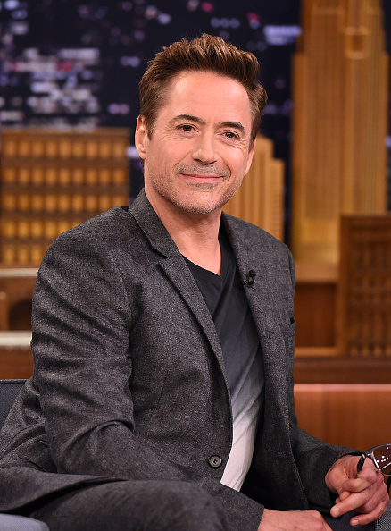 Robert Downey Jr. at  The Tonight Show Starring Jimmy Fallon  in New York City on April 27, 2015.