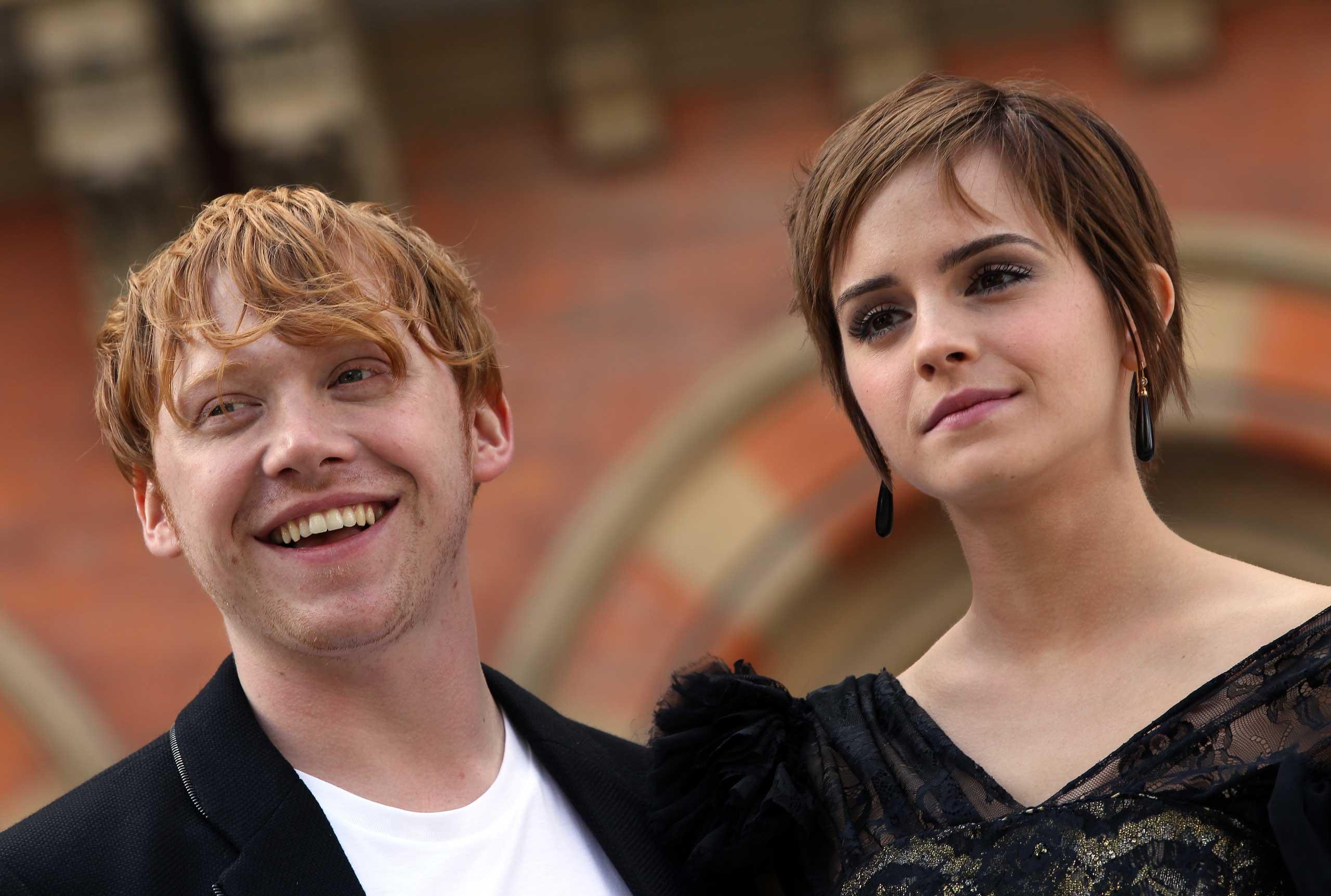 Rupert Grint and Emma Watson