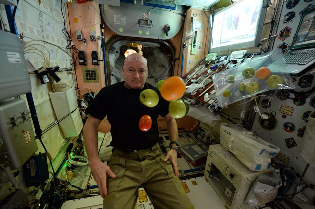 Christmas in July! Great gift for my 100th day in space! Only ~250 more to go (not that I'm counting) #YearInSpace  - via Twitter on July 5, 2015