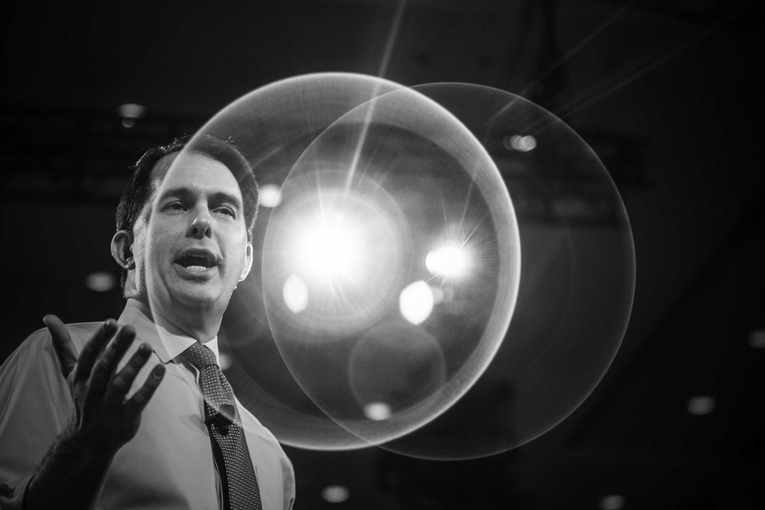 Governor of Wisconsin Scott Walker at the Conservative Political Action Conference in National Harbor, Md. on Feb. 26, 2015.