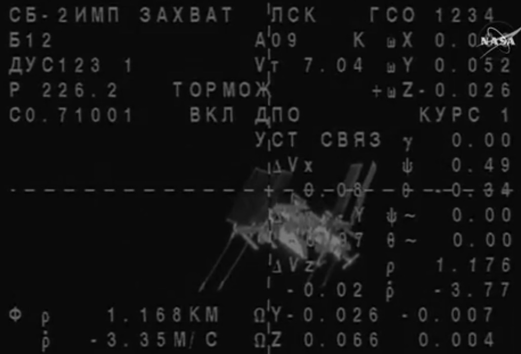 Soyuz docking with the international space station