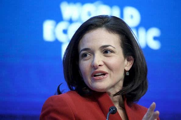 Sheryl Sandberg at the World Economic Forum (WEF) in Davos, Switzerland on Jan. 22, 2015.