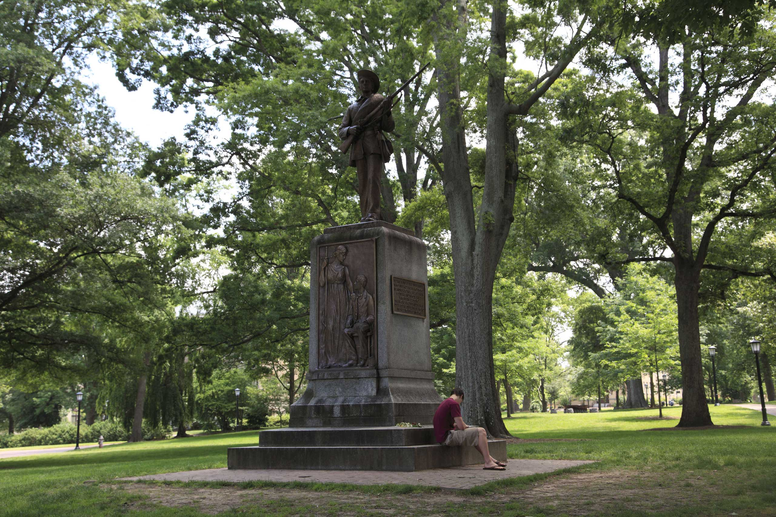 Silent Sam, monument to the 321 alumni of UNC who died in the Civil War, University of North Carolina, Chapel Hill.